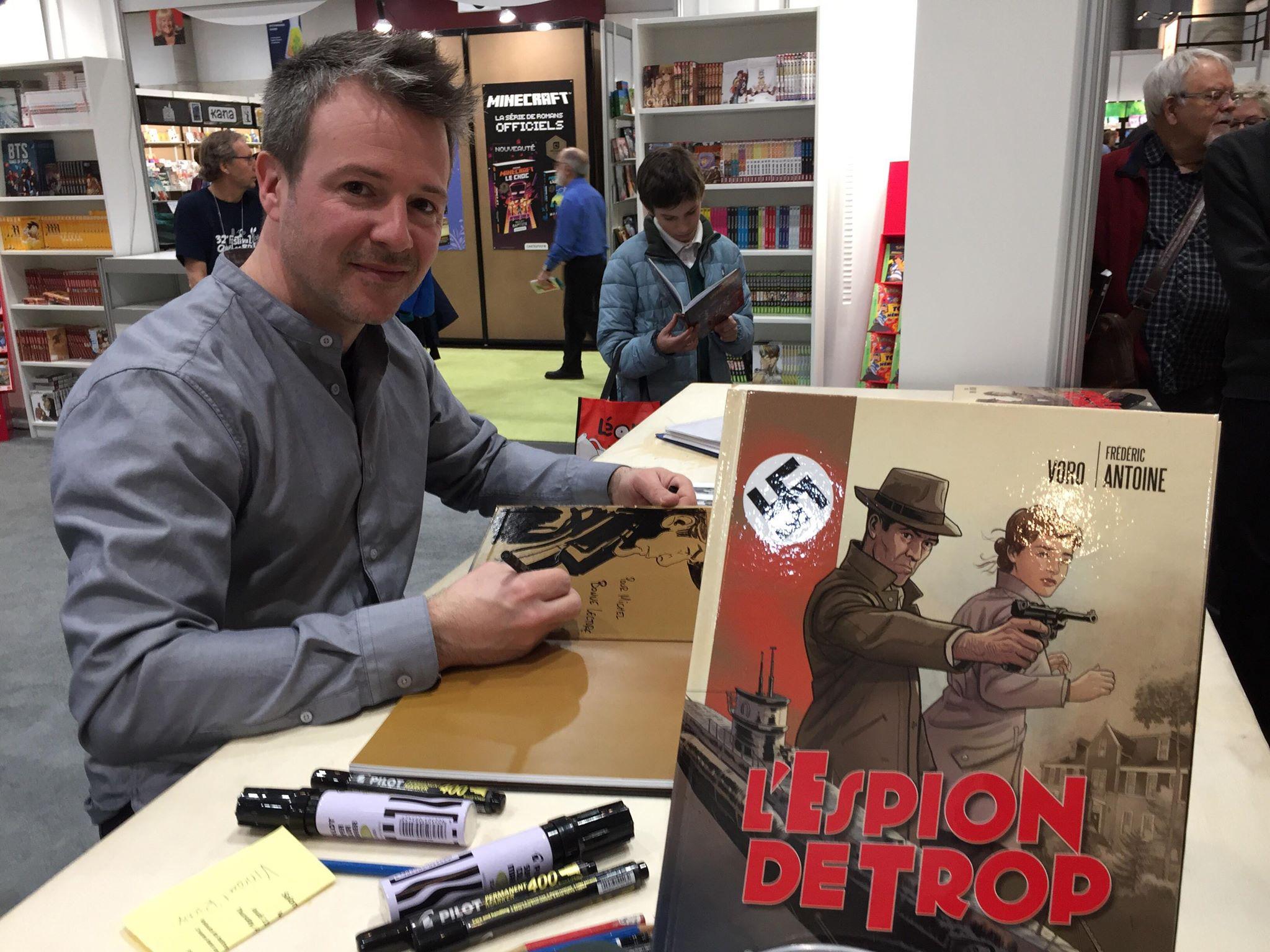 Vincent Rioux, alias VoRo, lors du Salon du livre de Québec la semaine dernière.
