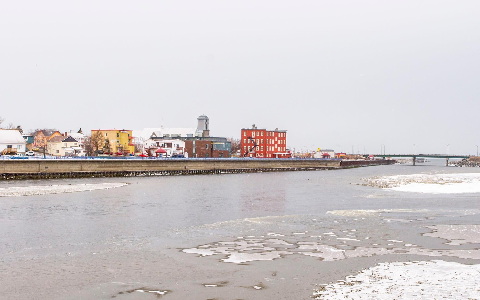 Ville de Matane hiver centre-ville