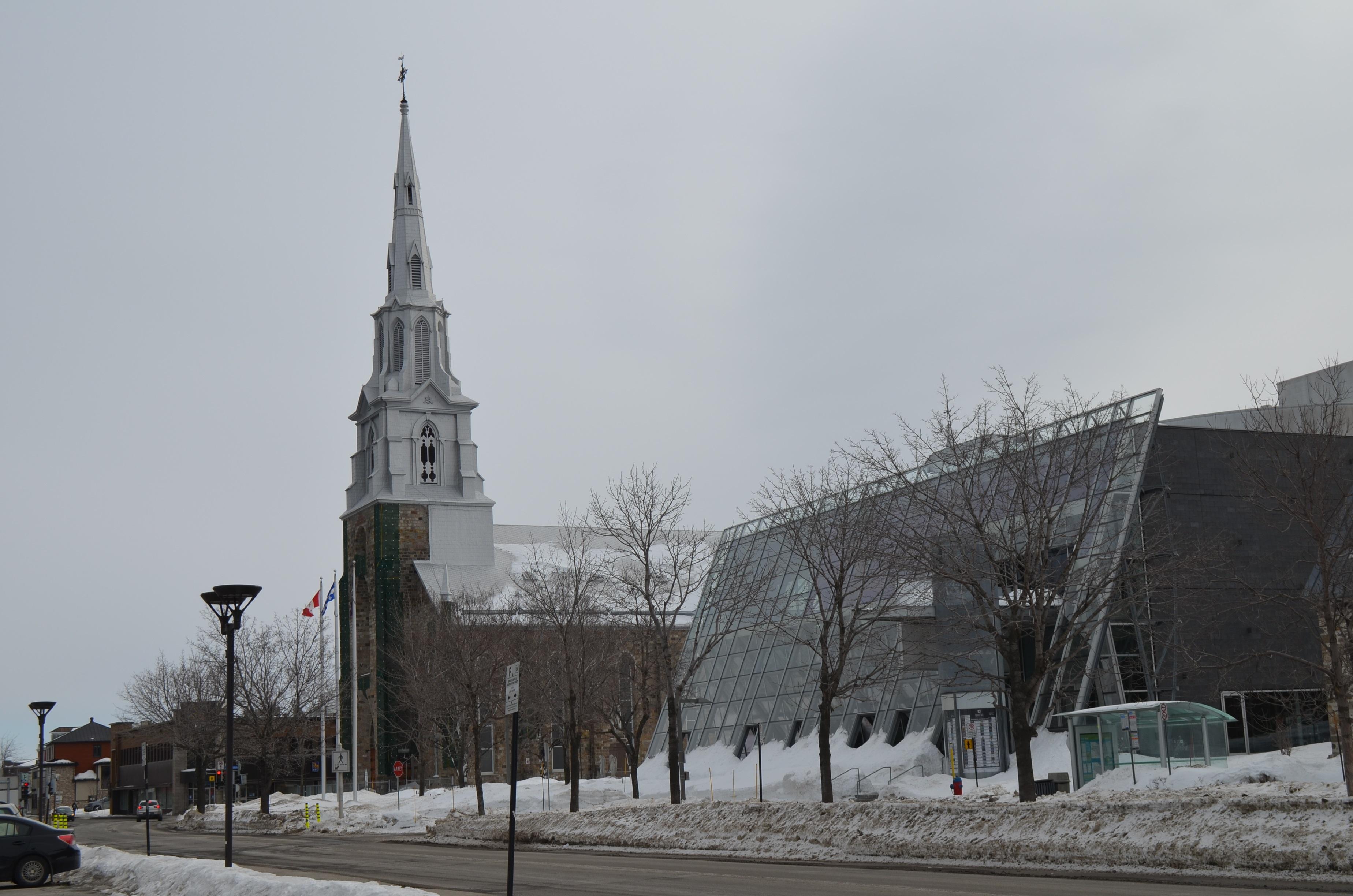 La cathédrale de Rimouski.