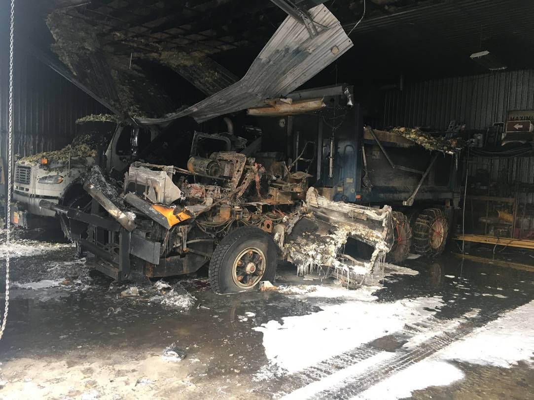 Incendie dans le garage municipal