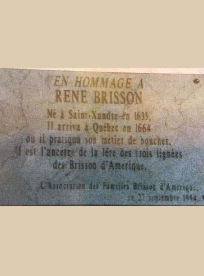 Plaque hommage à René Brisson