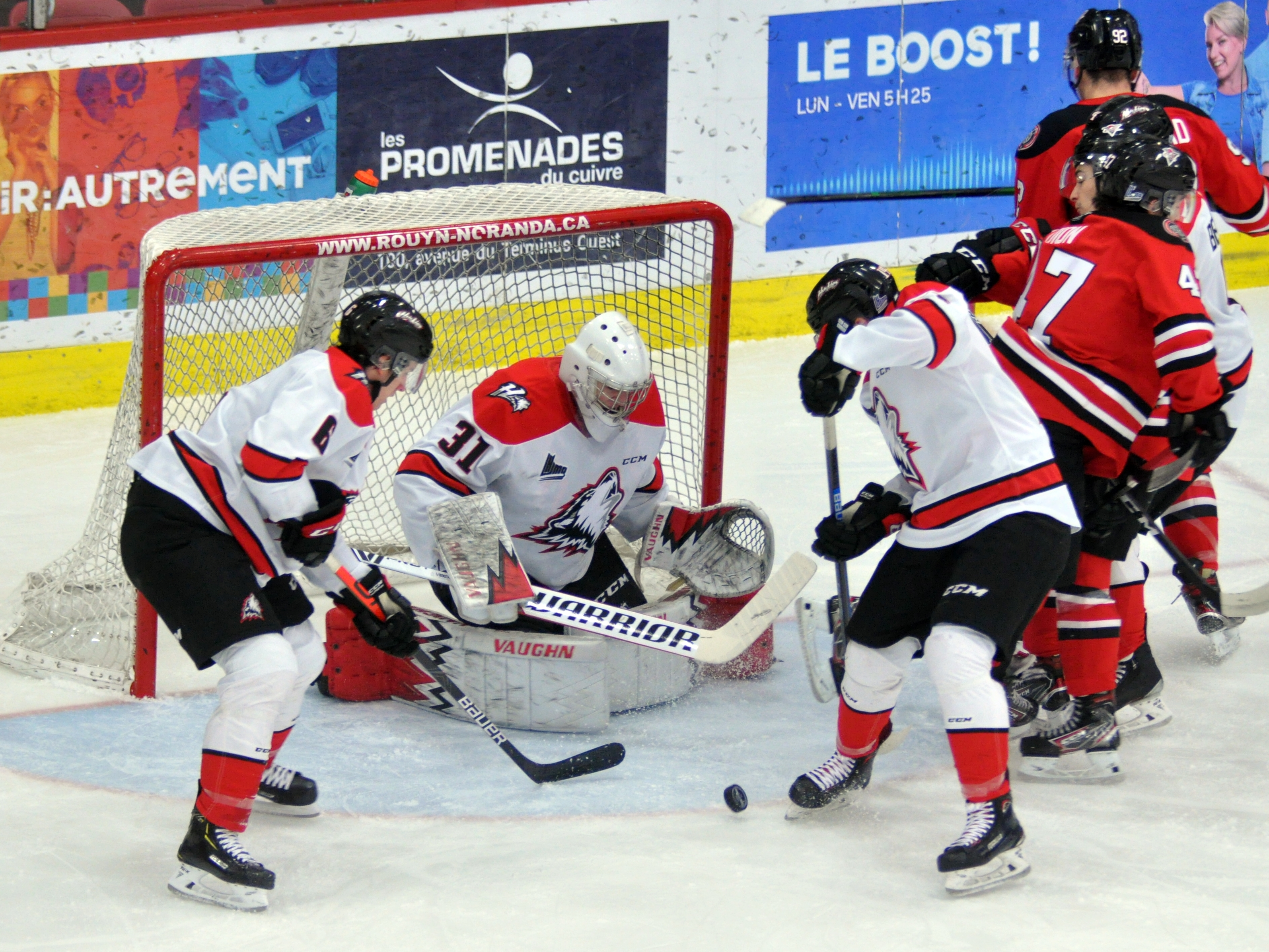 Huskies Rouyn-Noranda Voltigeurs Drummondville