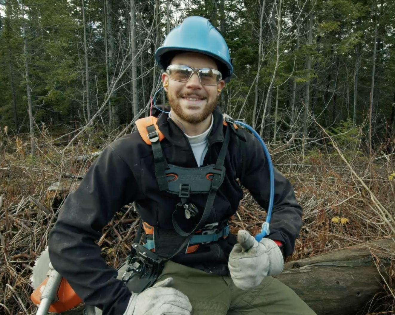 Xavier Bolduc fait partie du projet pilote sur le mode de rémunération des travailleurs forestiers depuis un an.