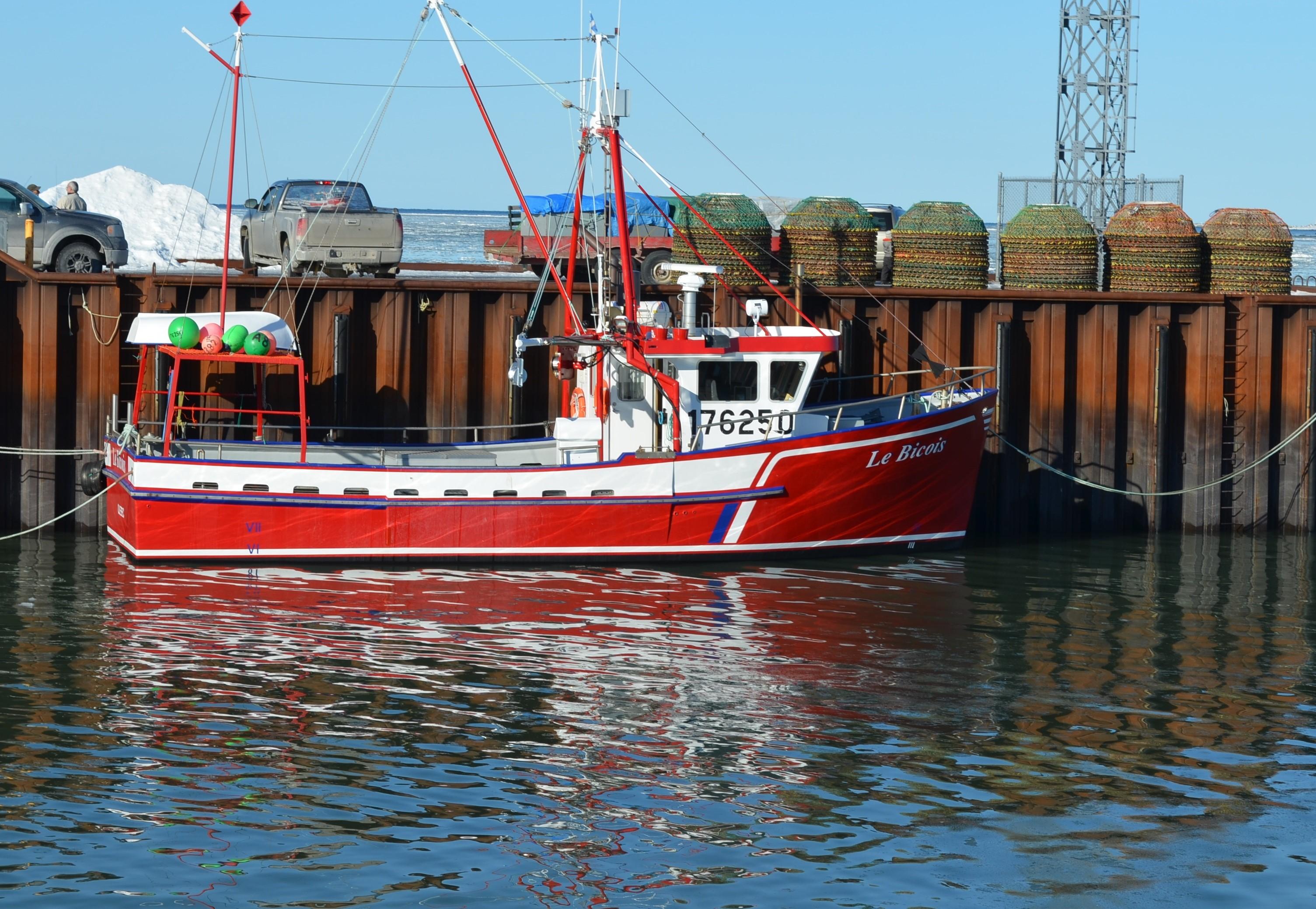 Le départ en mer des crabiers accostés au port de Rimouski-Est sera donné tôt demain matin.
