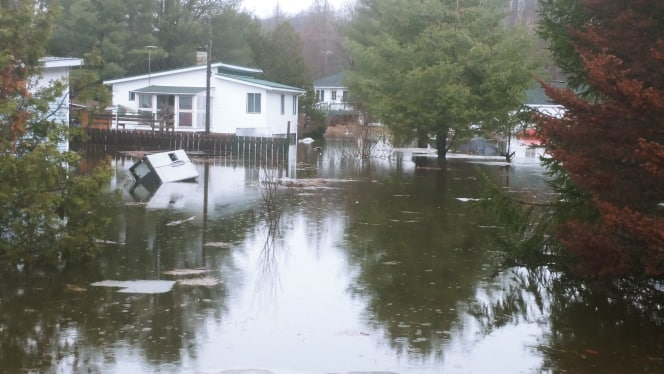 Inondation Saint-Calixte
