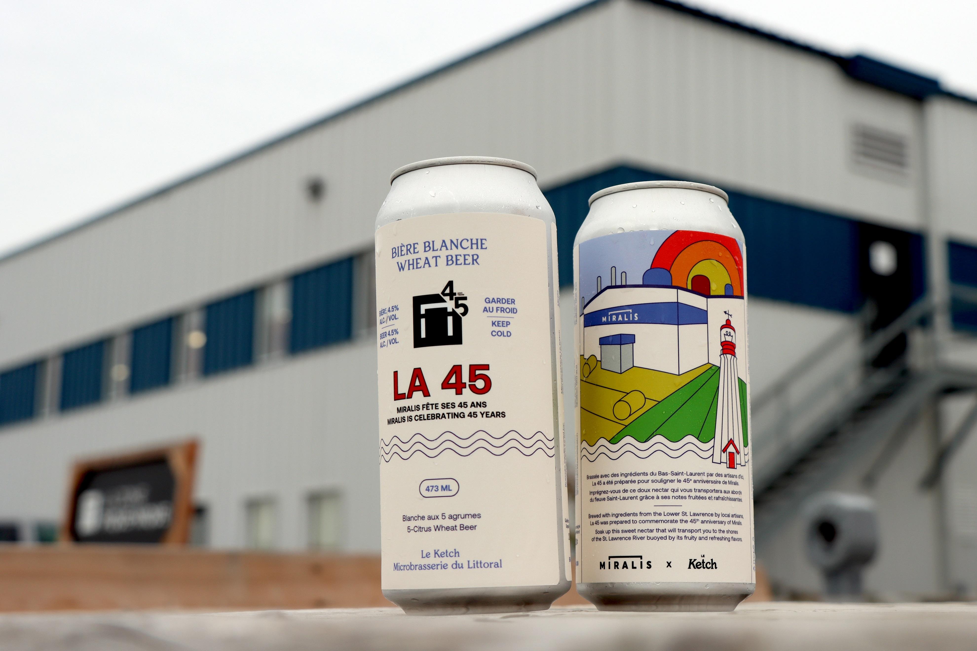 En collaboration avec la microbrasserie Le Ketch de Sainte-Flavie, l'entreprise a eu l'idée de lancer « La 45 ». Miralis.