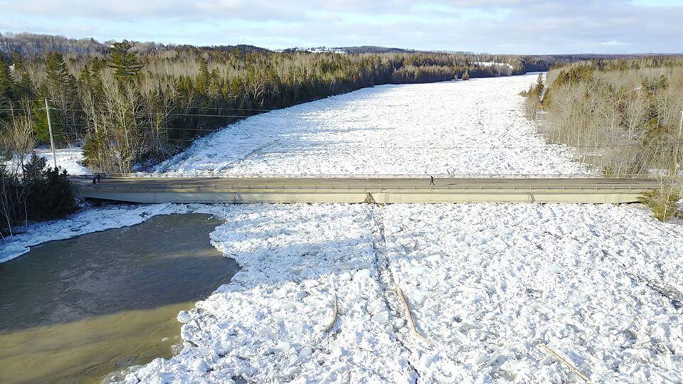 Bonaventure rivière embâcle