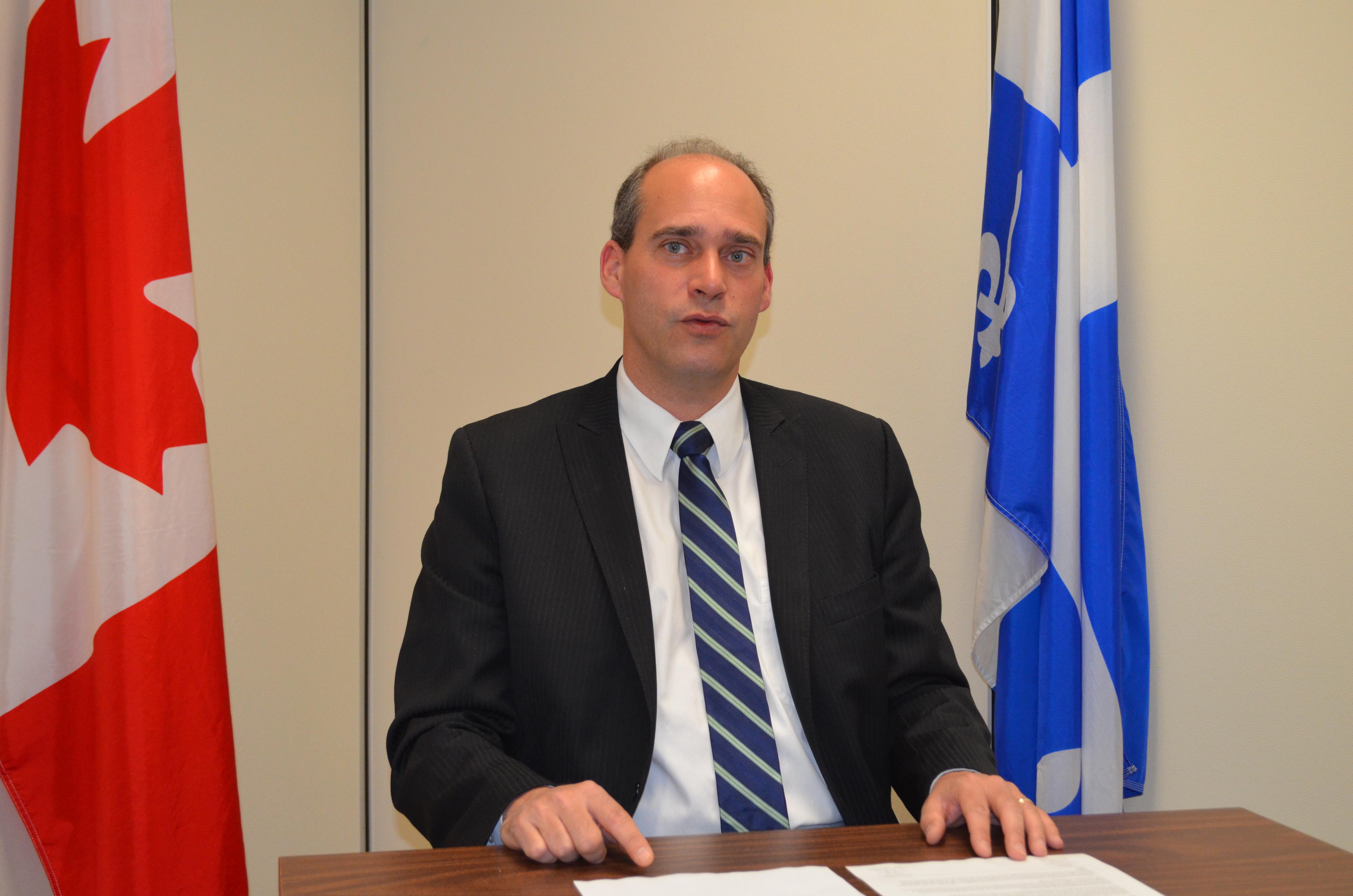 Le député fédéral de la circonscription Rimouski-Neigette - Témiscouatat - Les Basques, Guy Caron