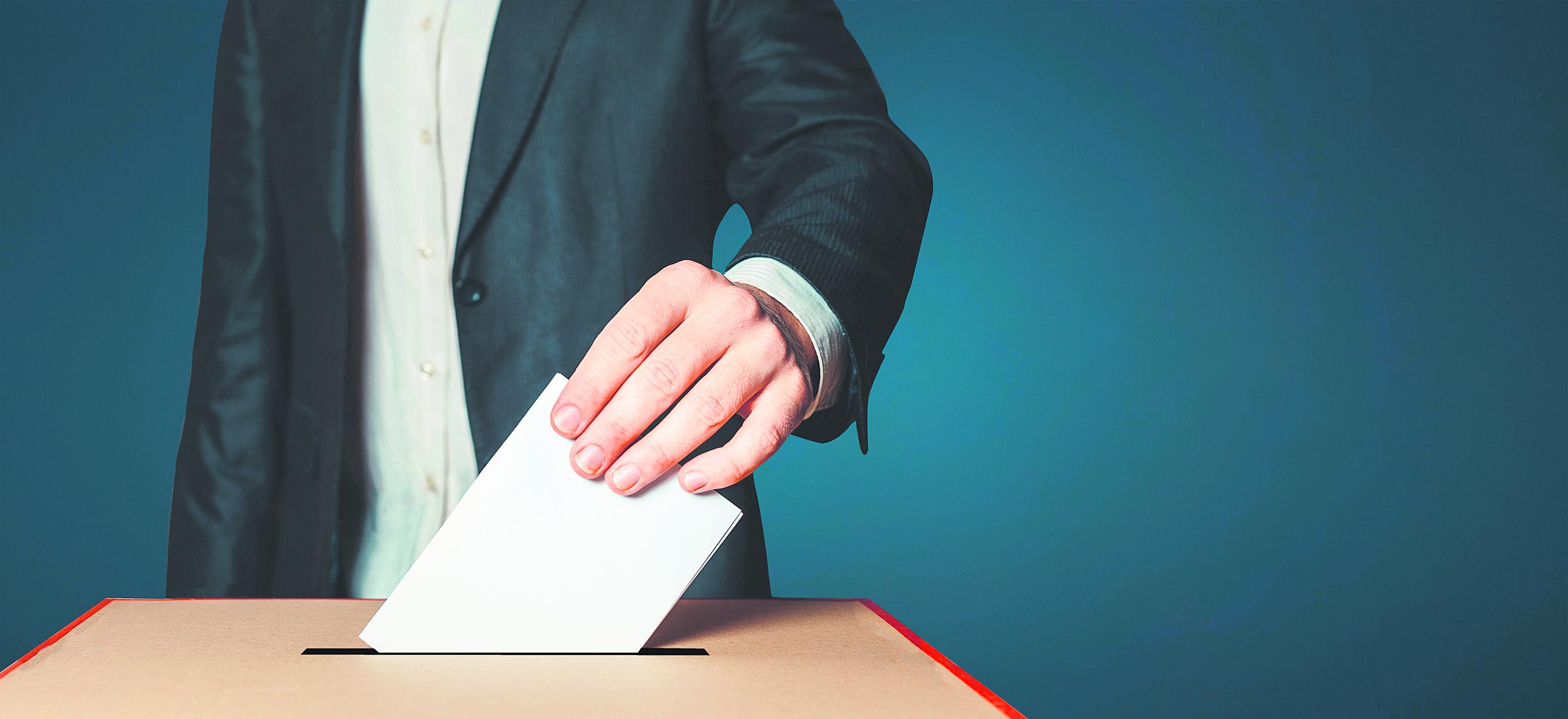 Vote, urne, élections.