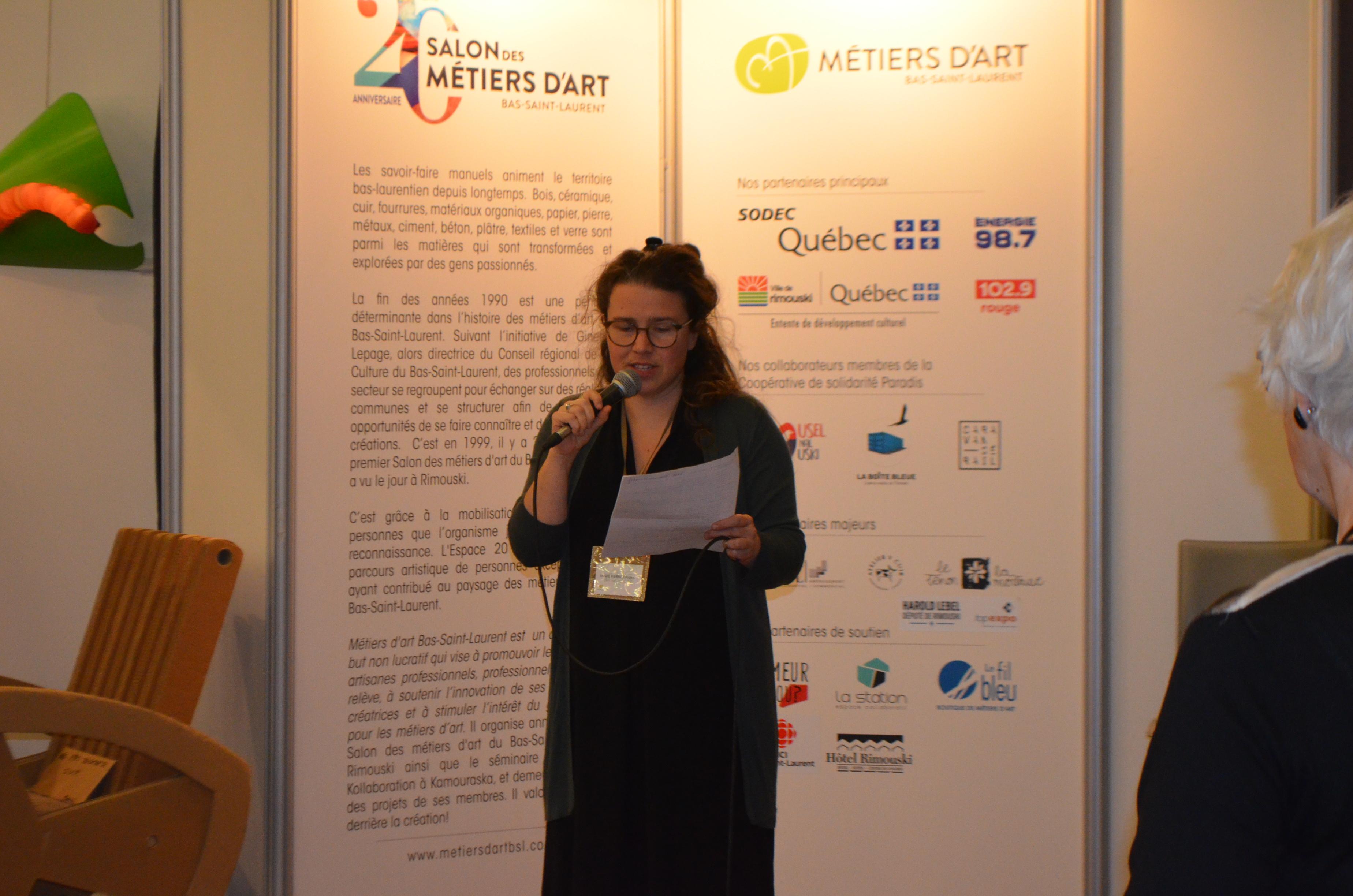 Marie Pierre Daigle, directrice du Salon des métiers d'art.