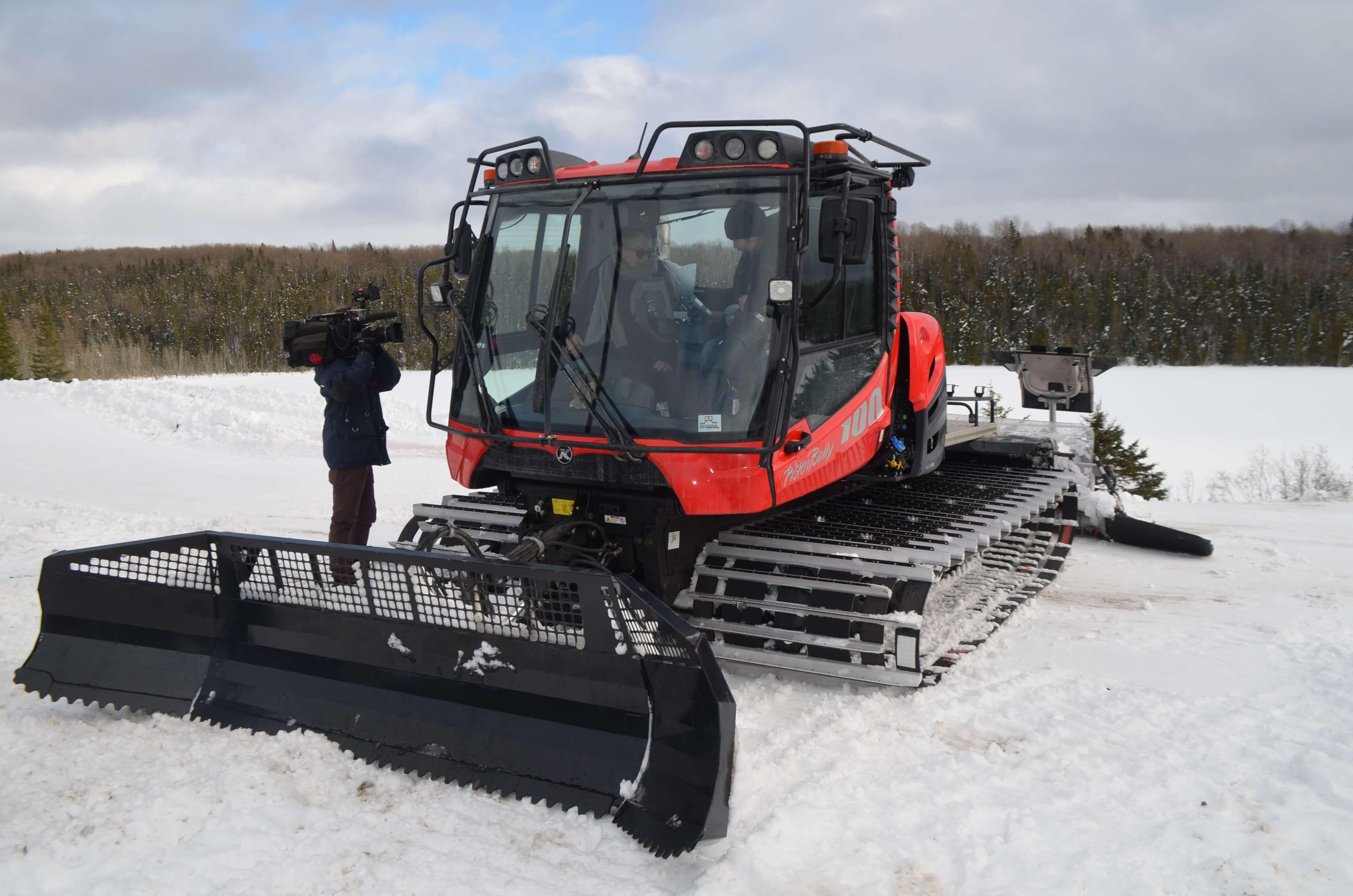 La nouvelle surfaceuse du Club de ski de fond Mouski.