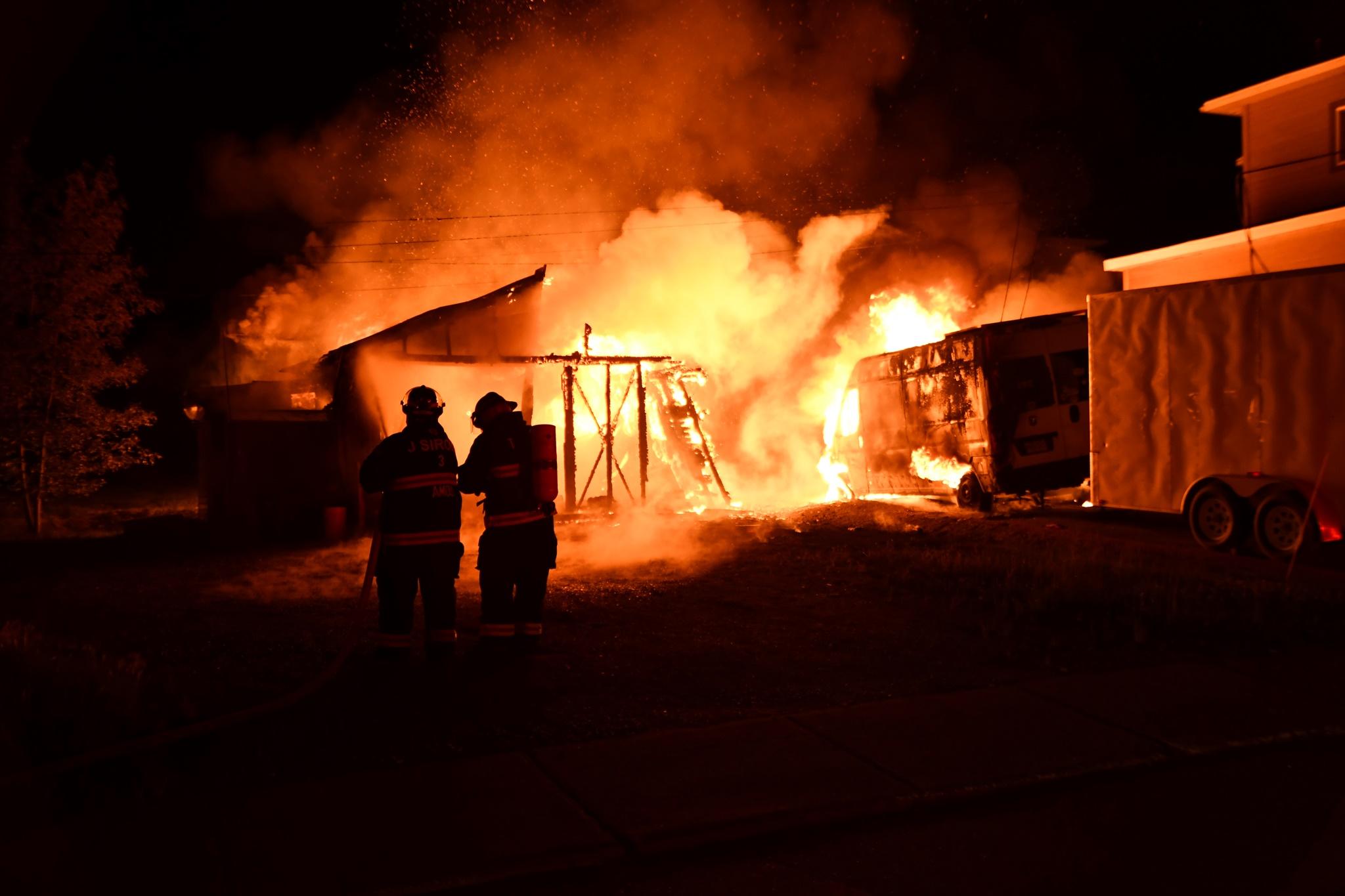 Incendie garages Amos