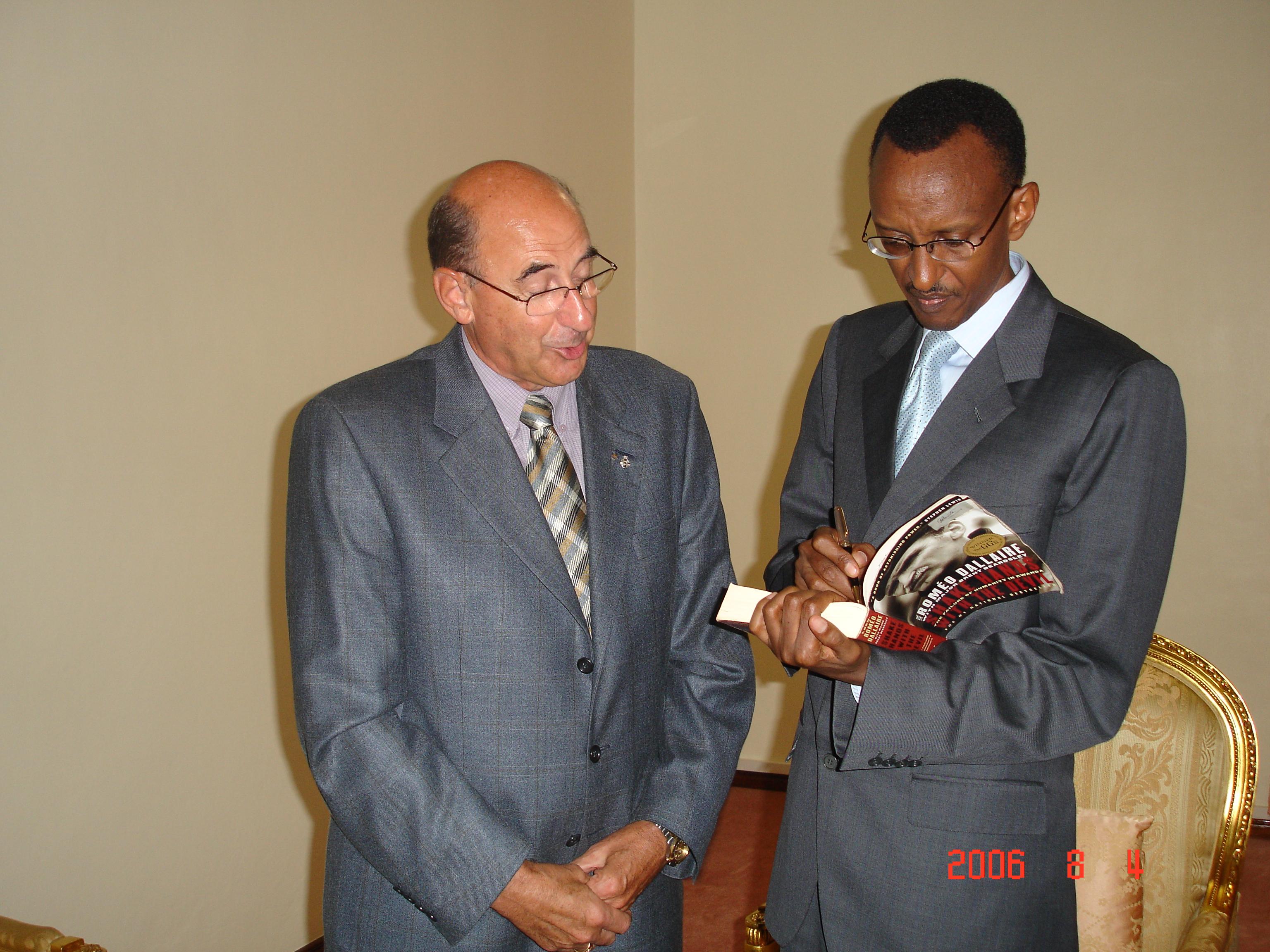 Major Jean-Guy Plante Paul Kagamé