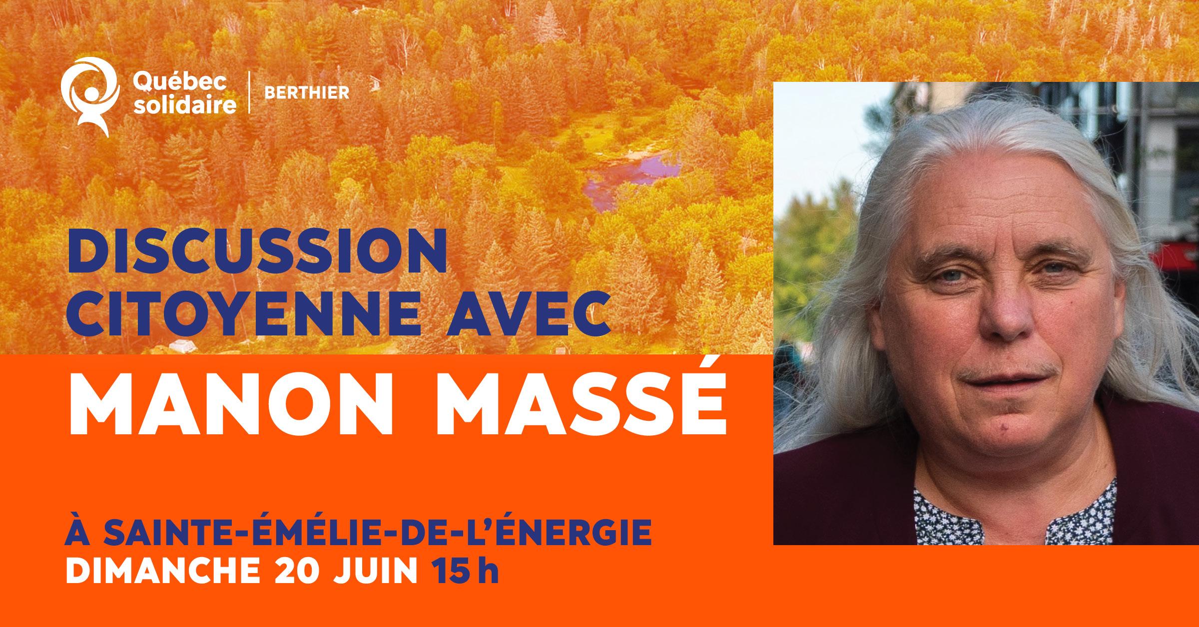 discussion citoyenne avec Manon Massé