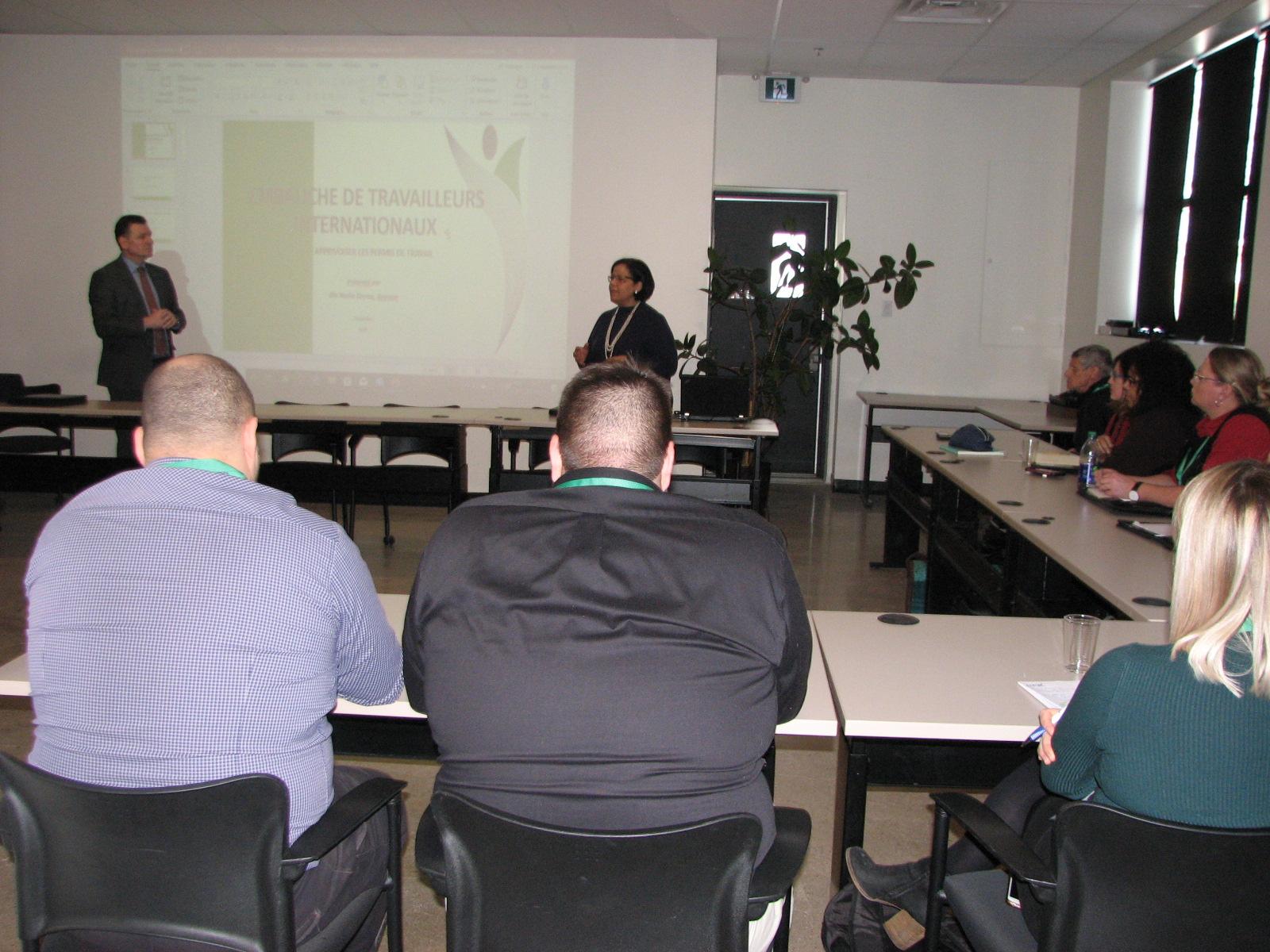 participants à une conférence