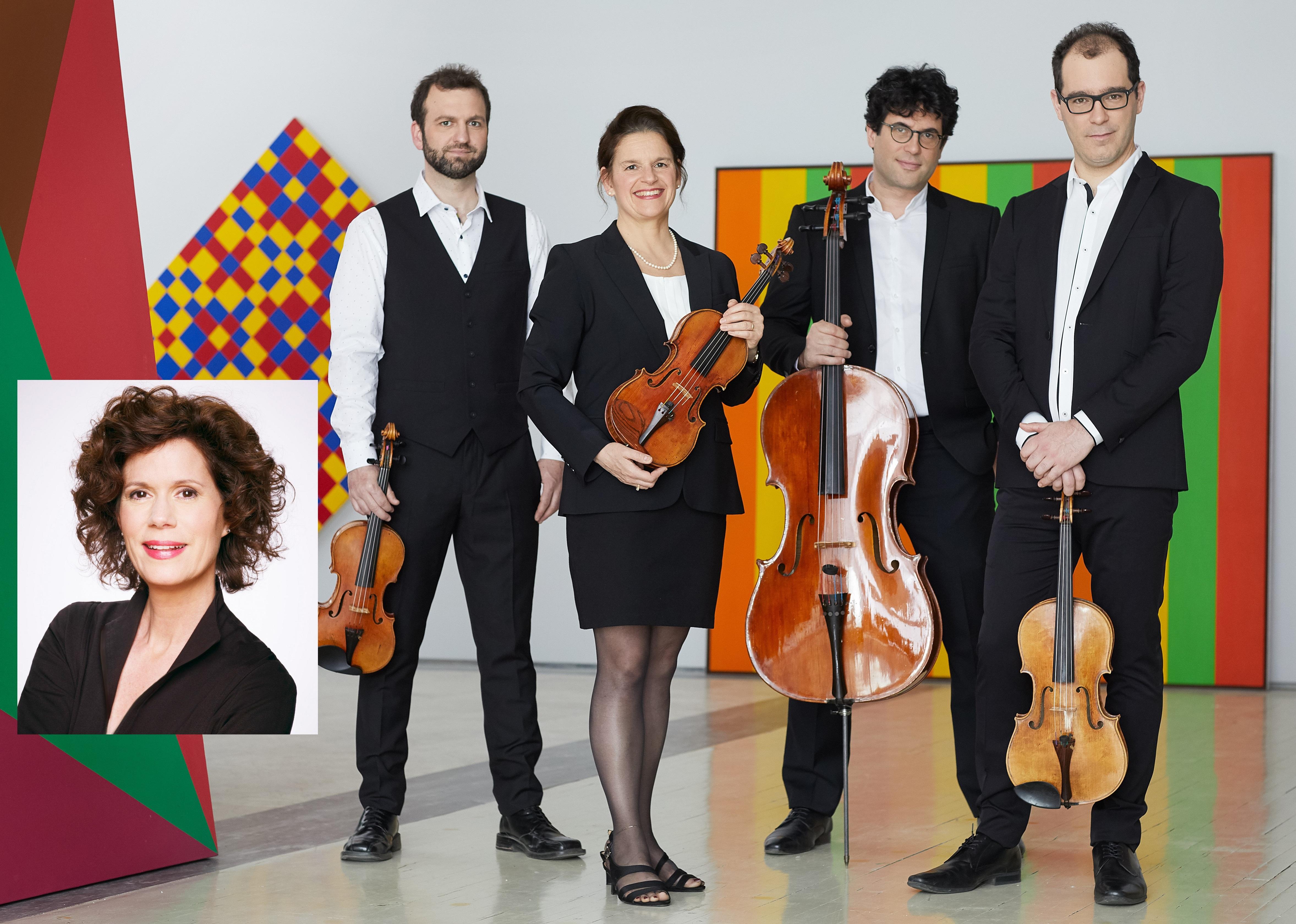 Le Quatuor Molinari et Catherine Perrin.