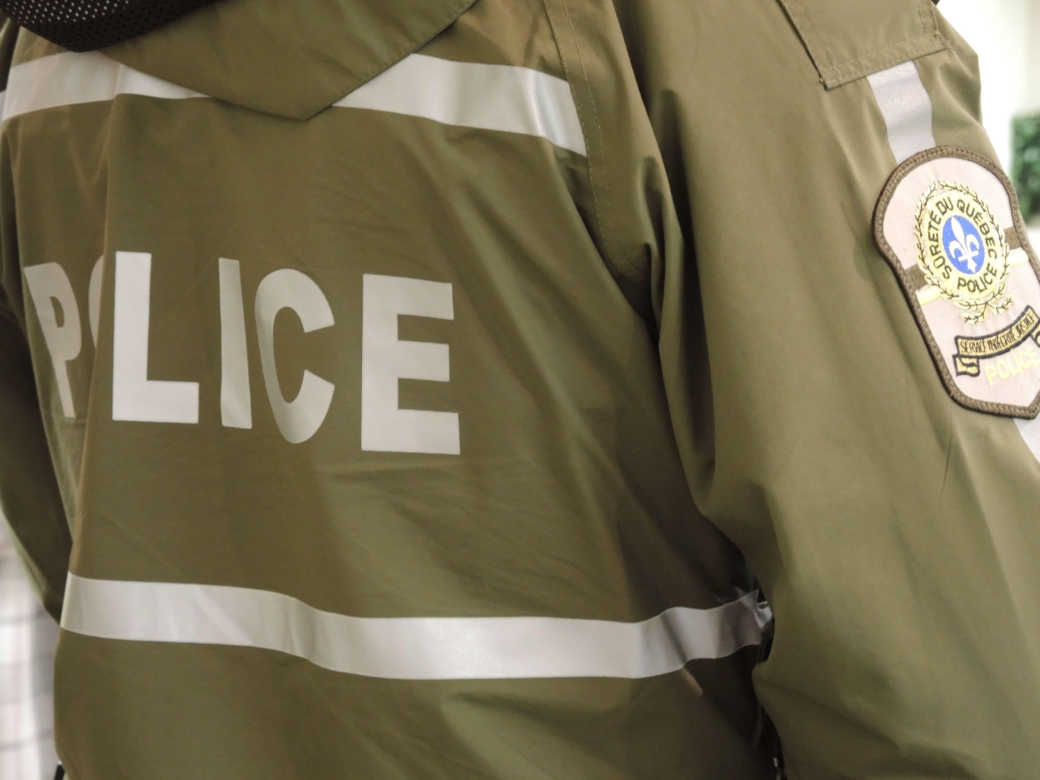 Police Sûreté du Québec manteau