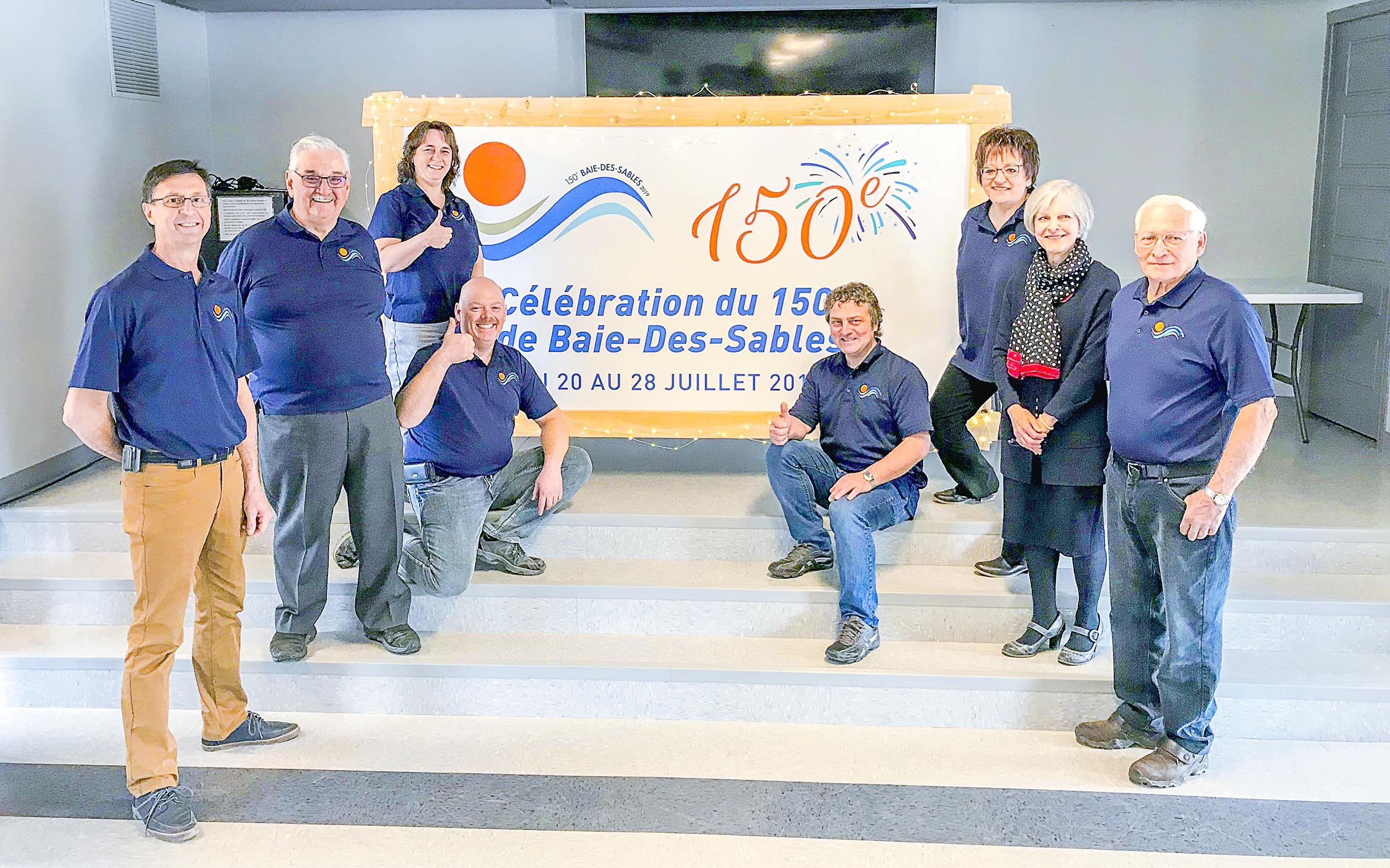 Baie-des-Sables 150e anniversaire comité des fêtes