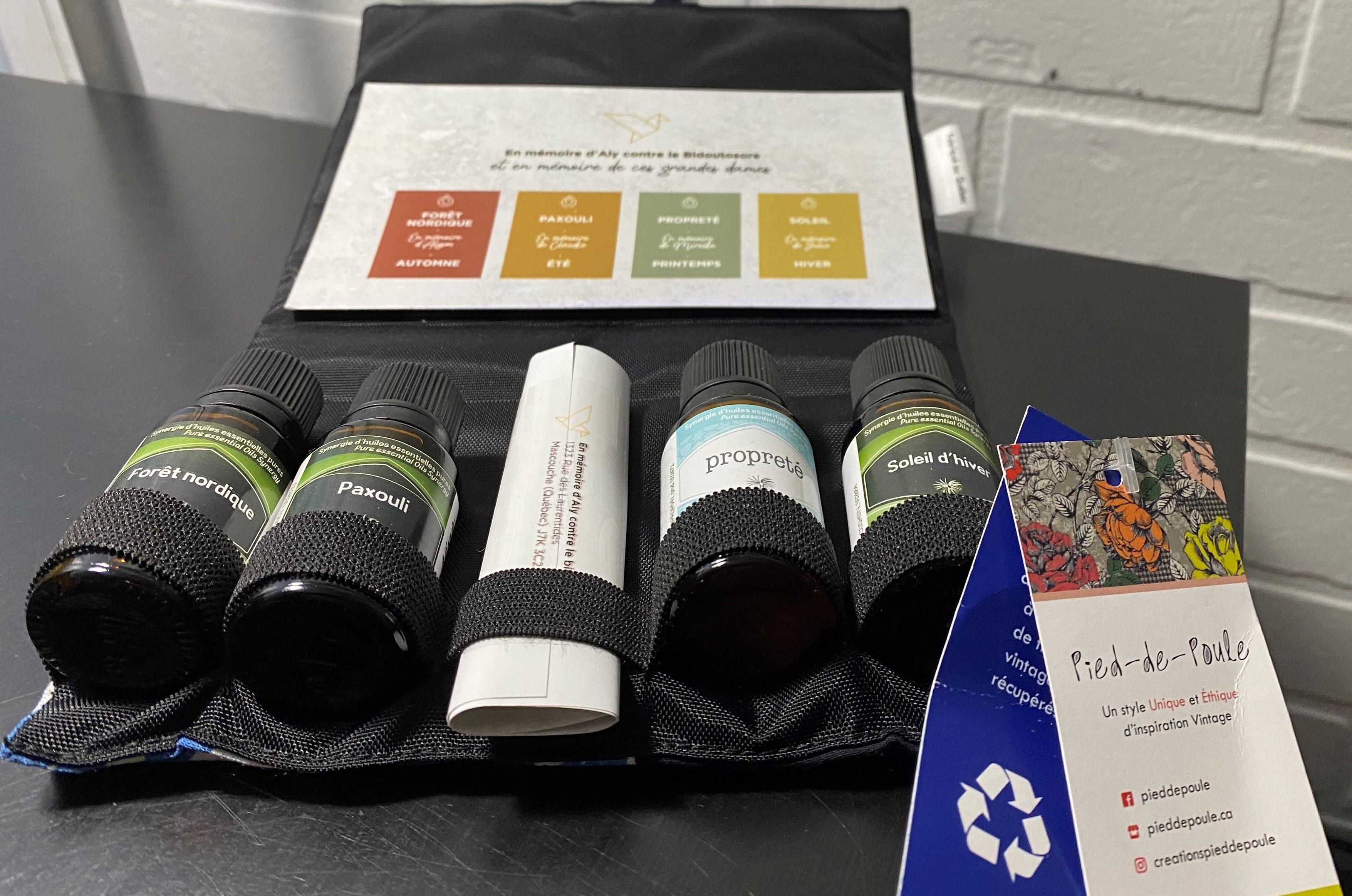 :L'Association du cancer de l'Est du Québec (ACEQ) annonce la mise en vente - jusqu'aux Fêtes - de coffrets d'huiles essentielles en mémoire d'Alyson Beauchesne-Lévesque,