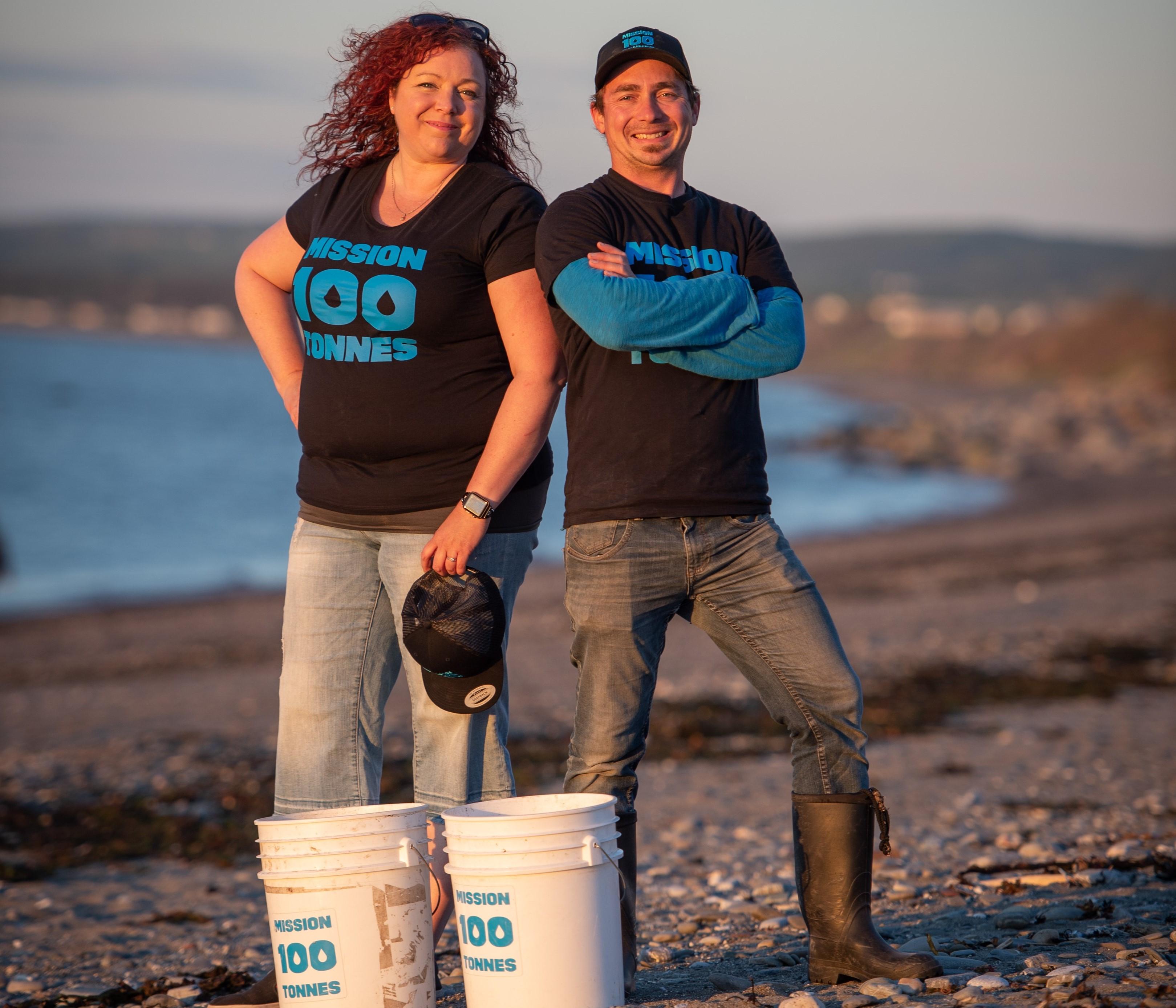Lyne Morissette, de Sainte-Luce, et Jimmy Vigneux sont les initiateurs du projet « Mission 100 tonnes ».