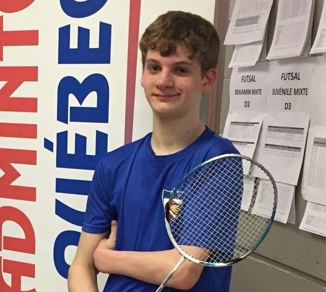 William Roussy para-badminton