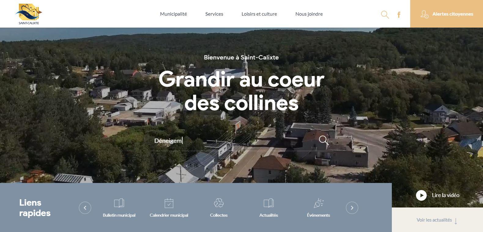 Nouveau site web Saint-Calixte