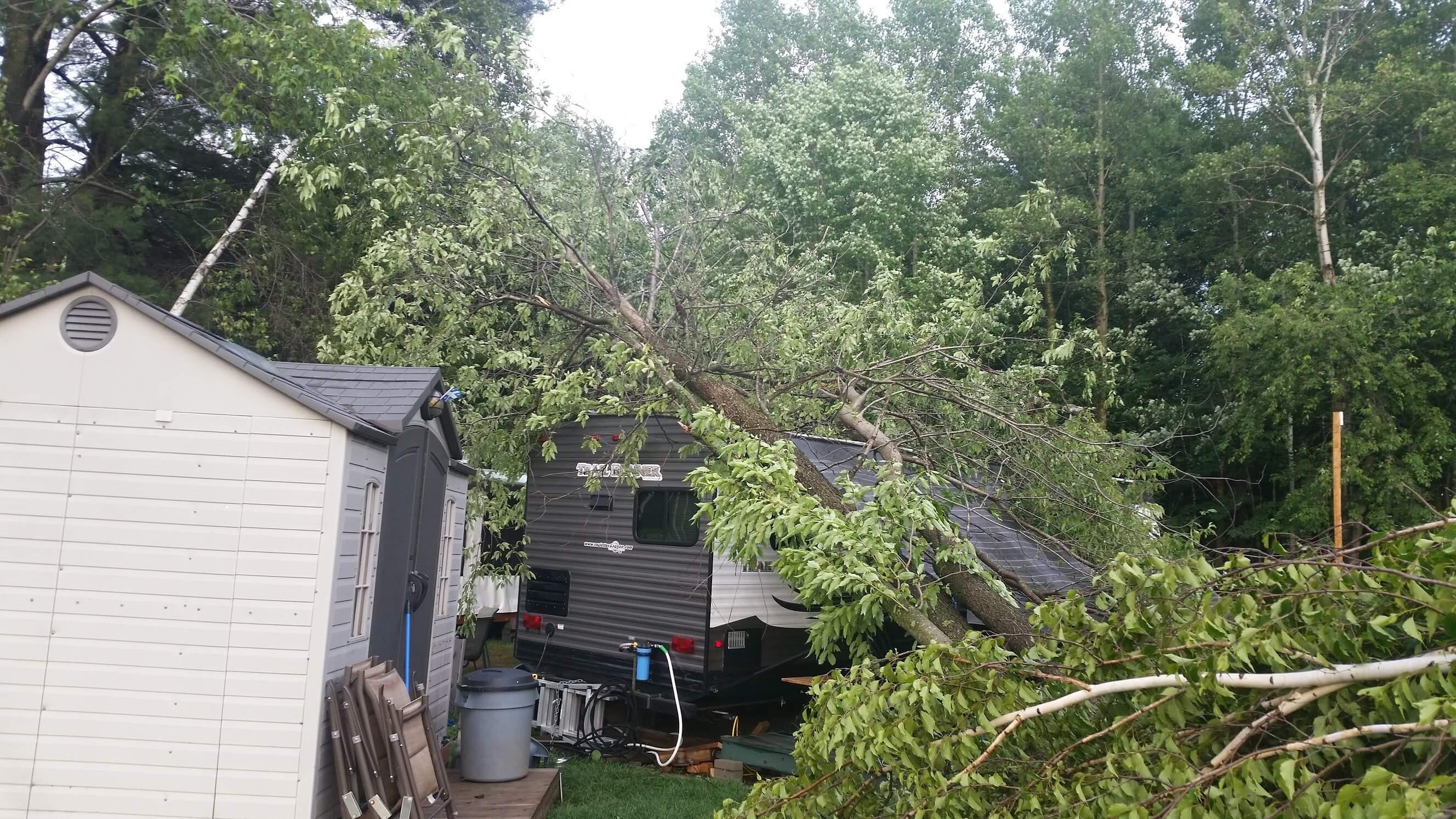 Une partie du camping Le Saint-Paul a subi des dégâts importants le 2 juillet 2018, en raison de la mauvaise température.