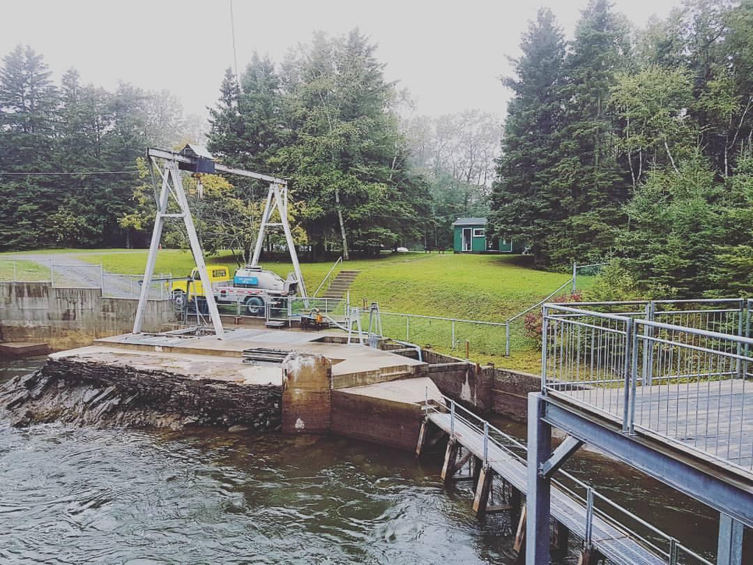 Les installations hydroélectriques de la centrale Mitis-I.