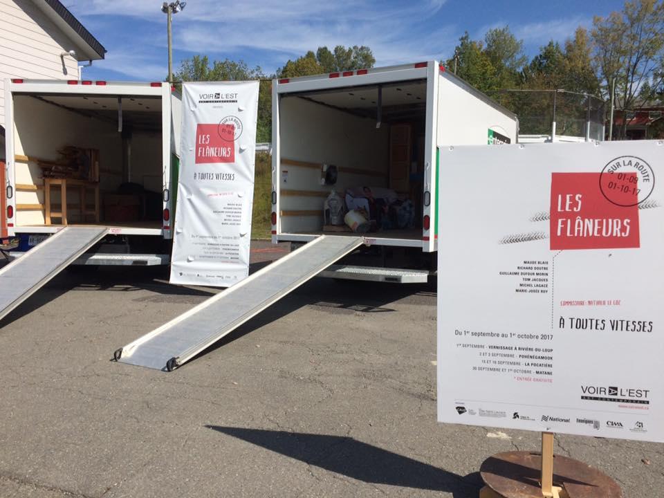 Les œuvres des artistes seront présentées à l'intérieur et à l'extérieur du camion utilisé pour le transport de l'exposition.