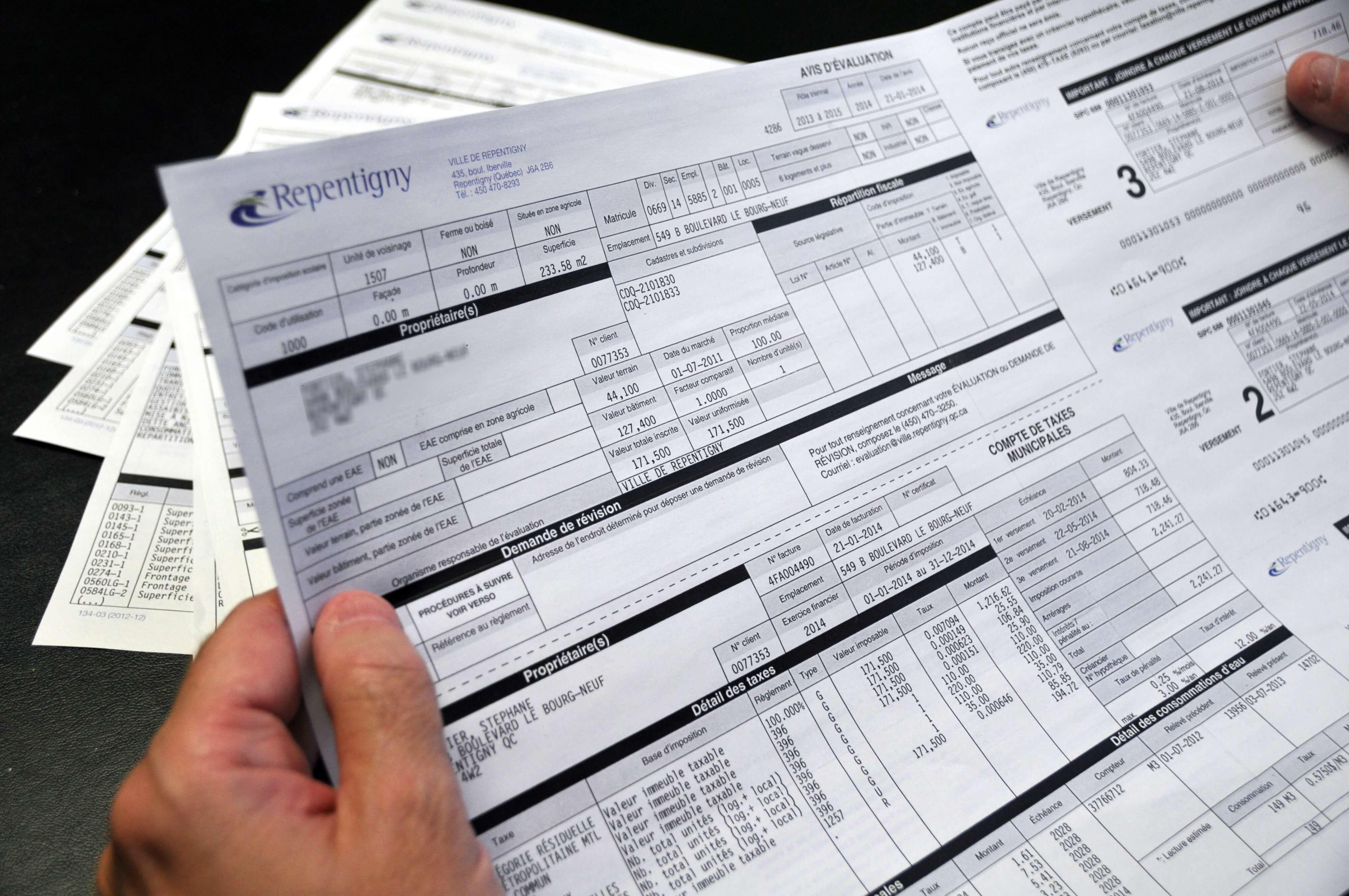 C'est le temps de payer vos taxes municipales