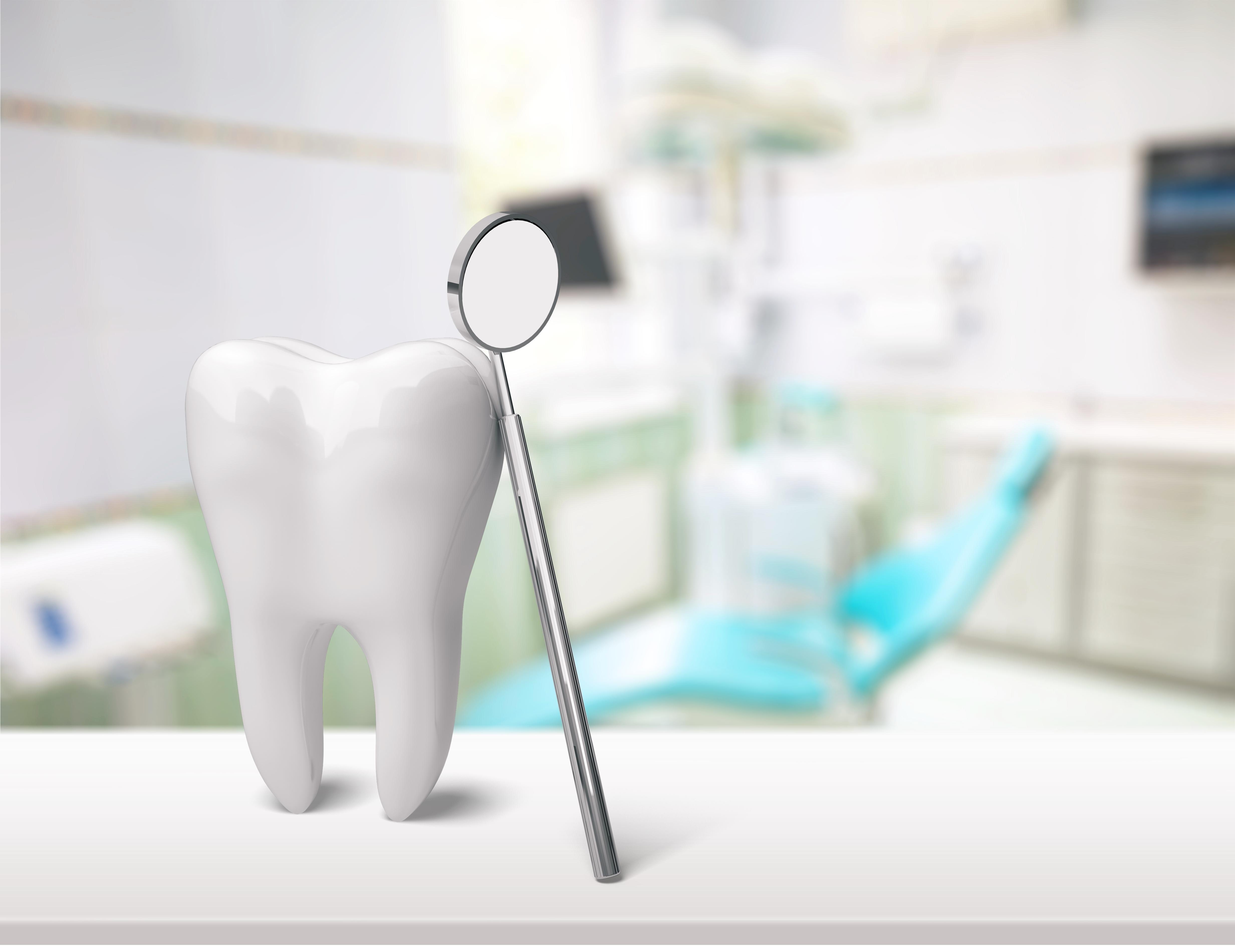 dent, miroir, dentiste