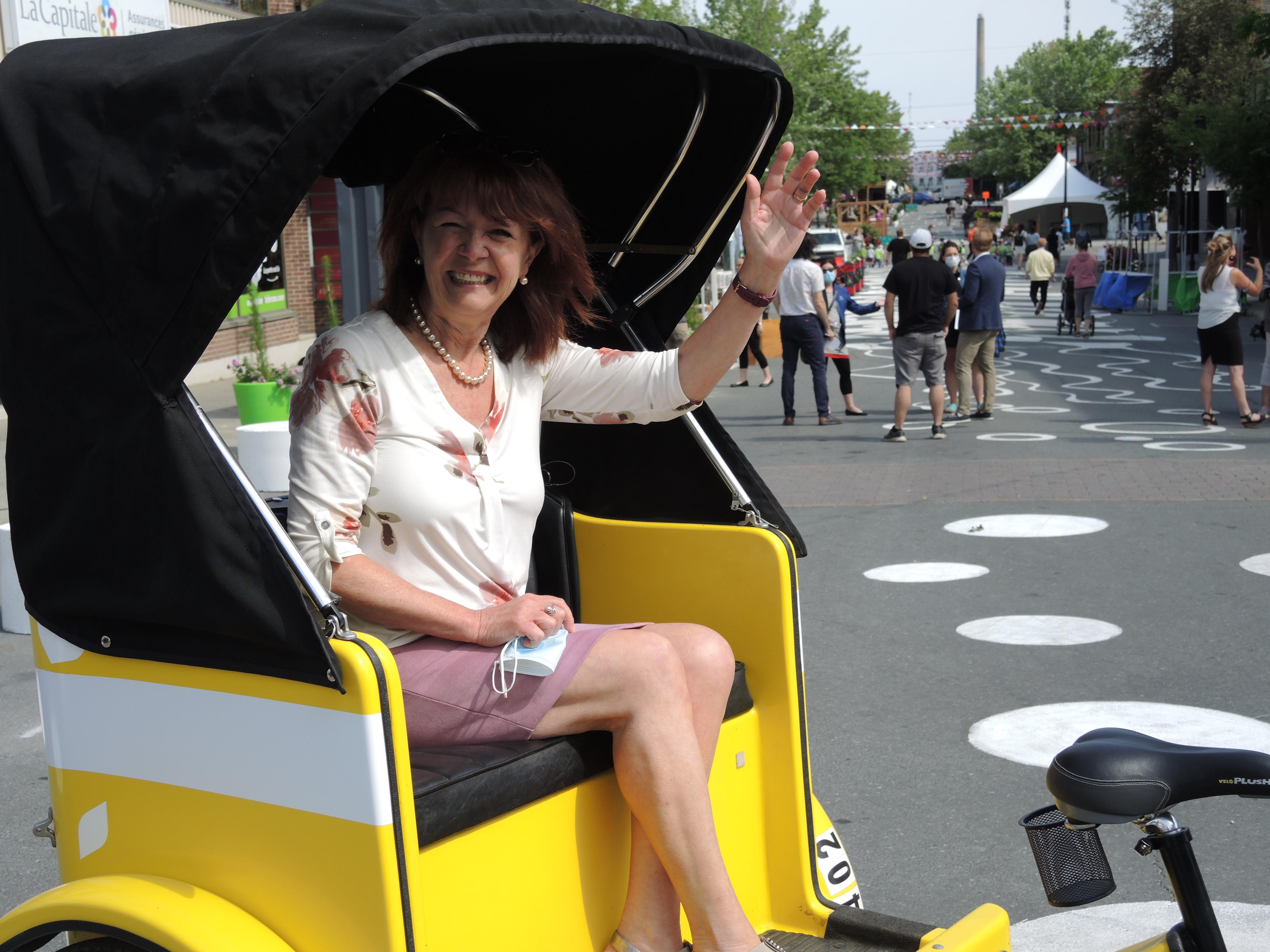 Diane Dallaire Vélo-taxi Quartier Centre-Ville Piétonnier