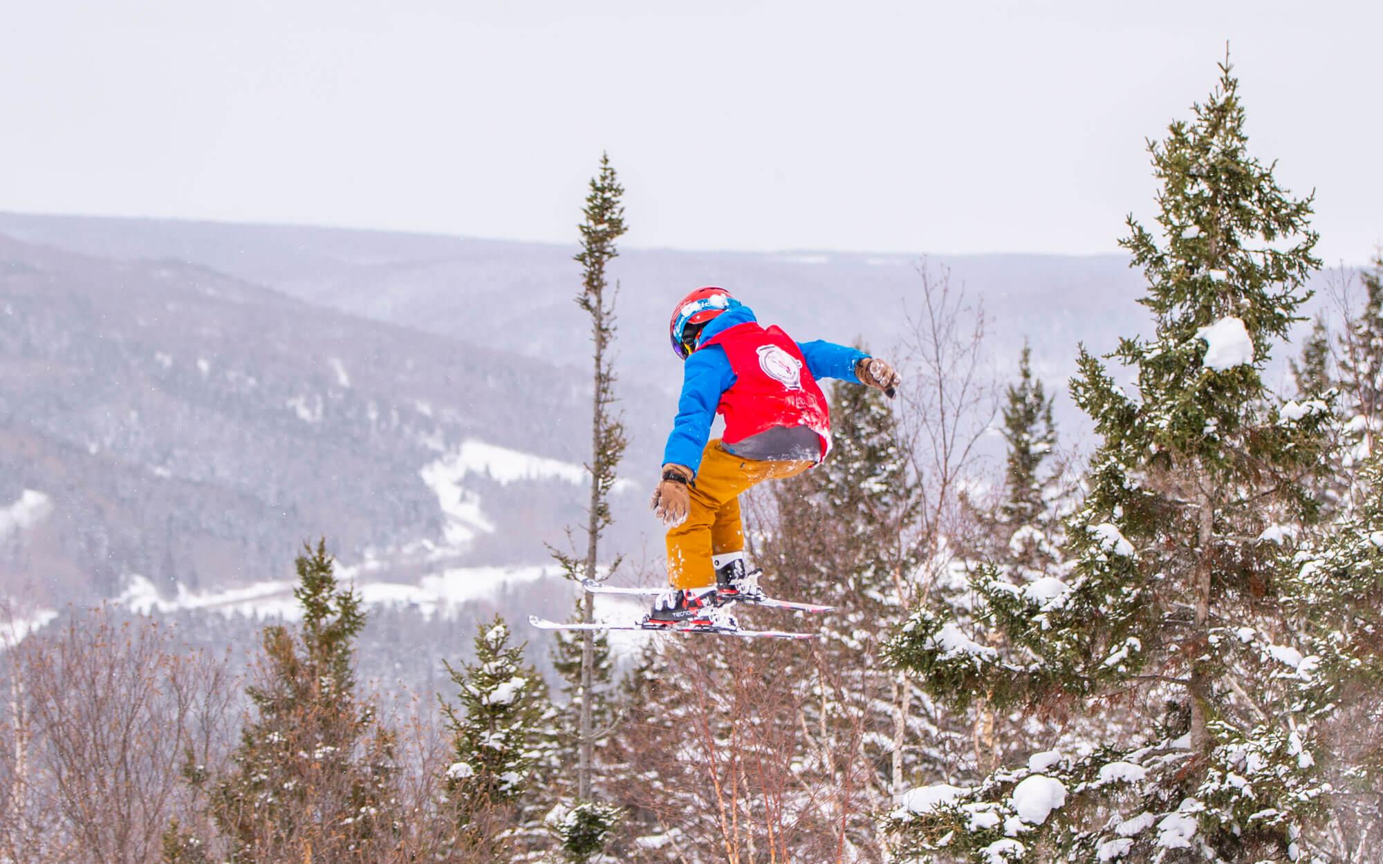 Beaver Jam mont Castor Matane freestyle compétition ski panche à neige