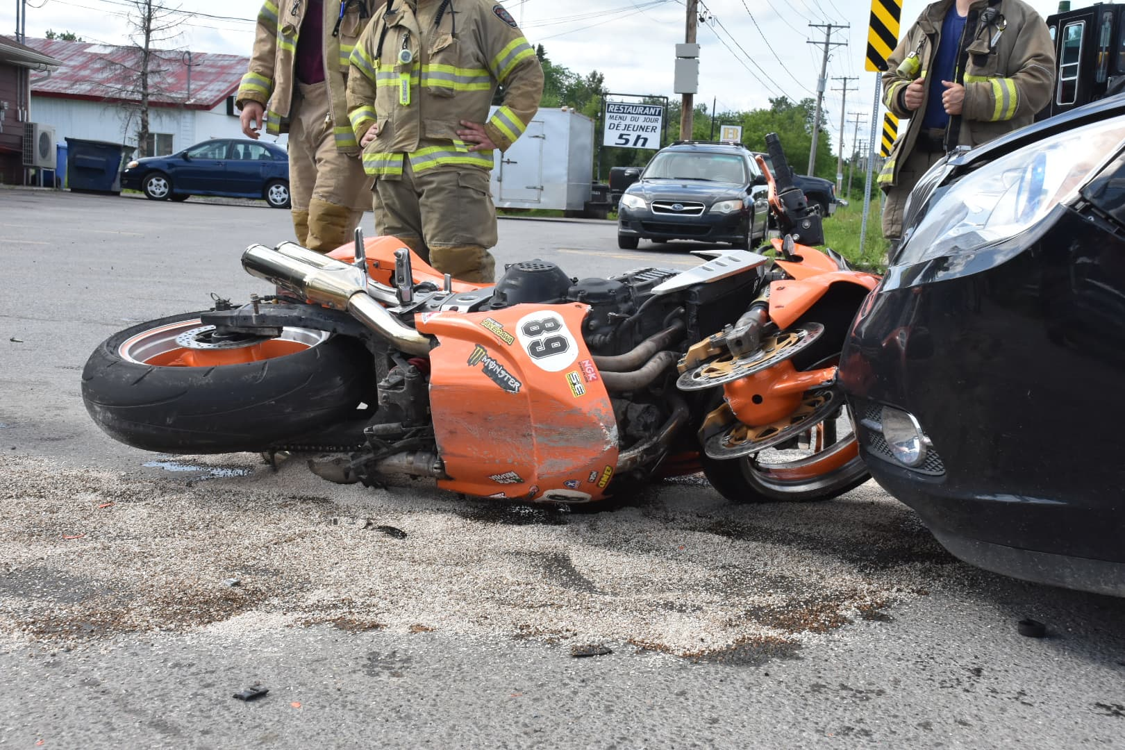 Accident auto-moto Sainte-Julienne