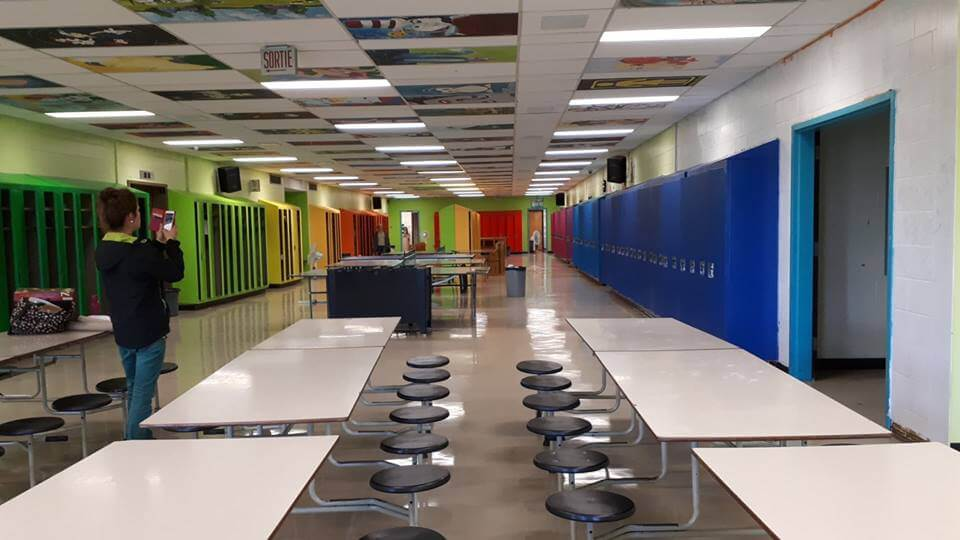 Des casiers haut en couleur à l'école le Séjour de Macamic