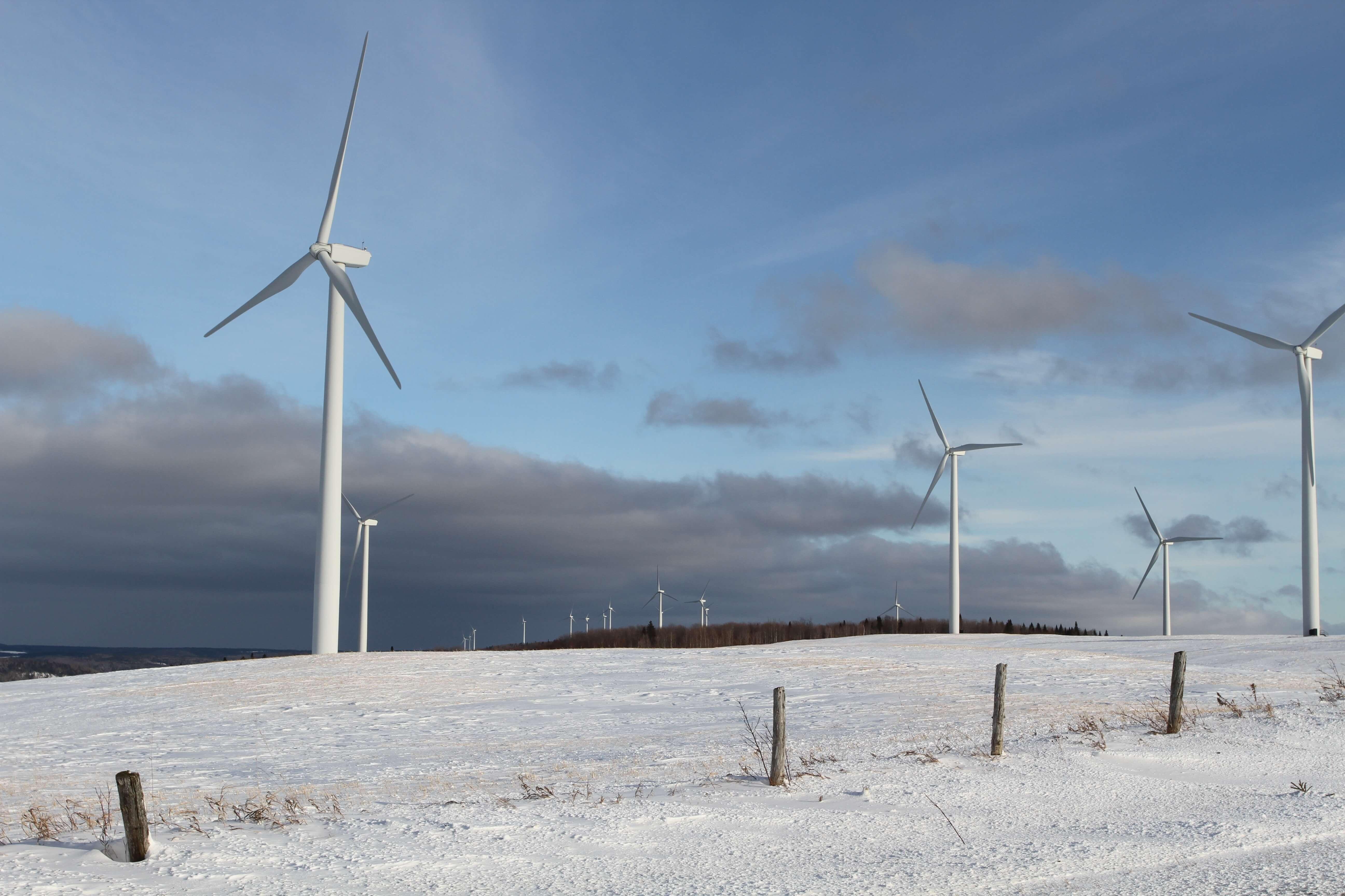 Éolienne Hiver