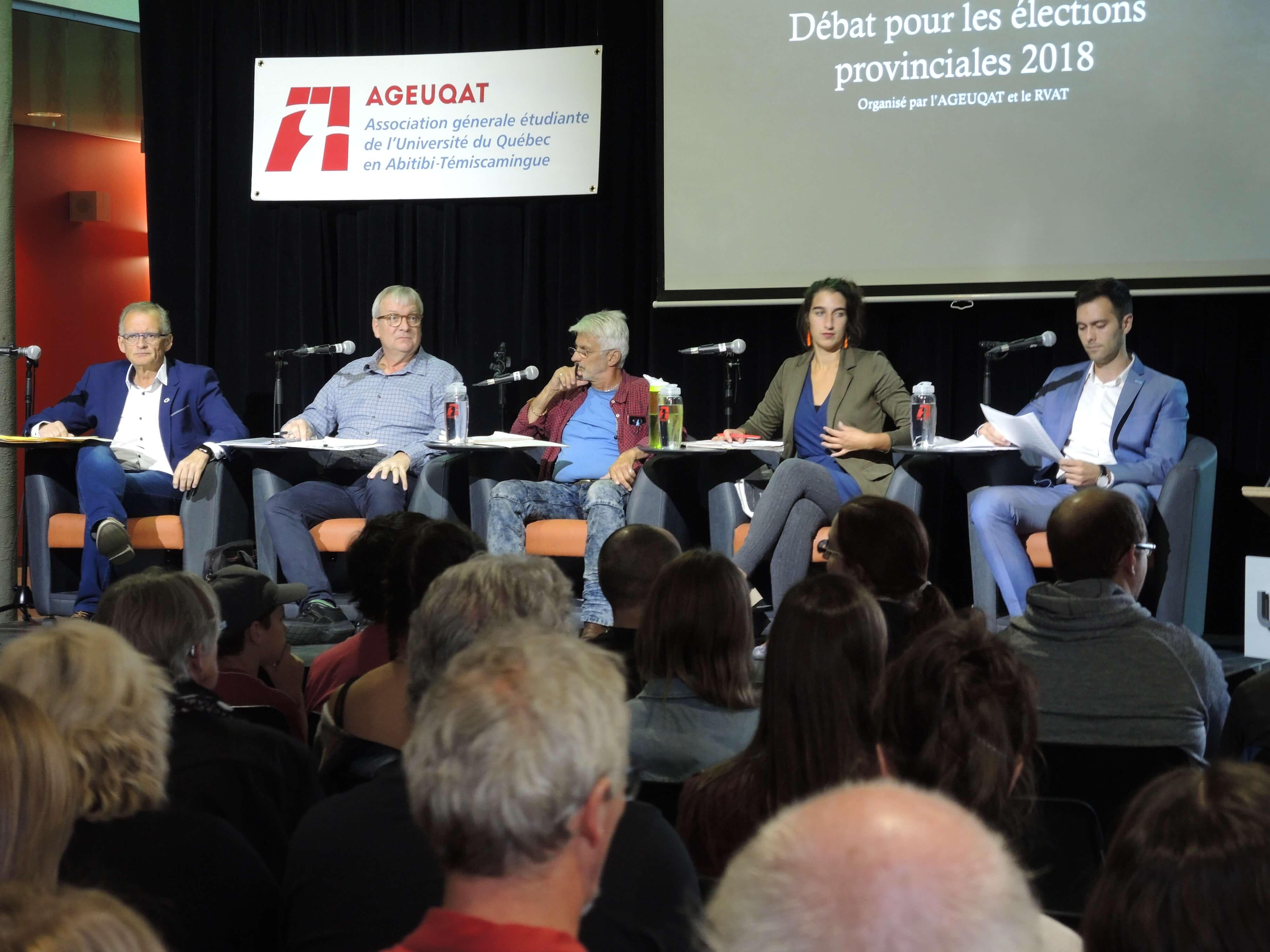 Débats des candidats à Rouyn-Noranda