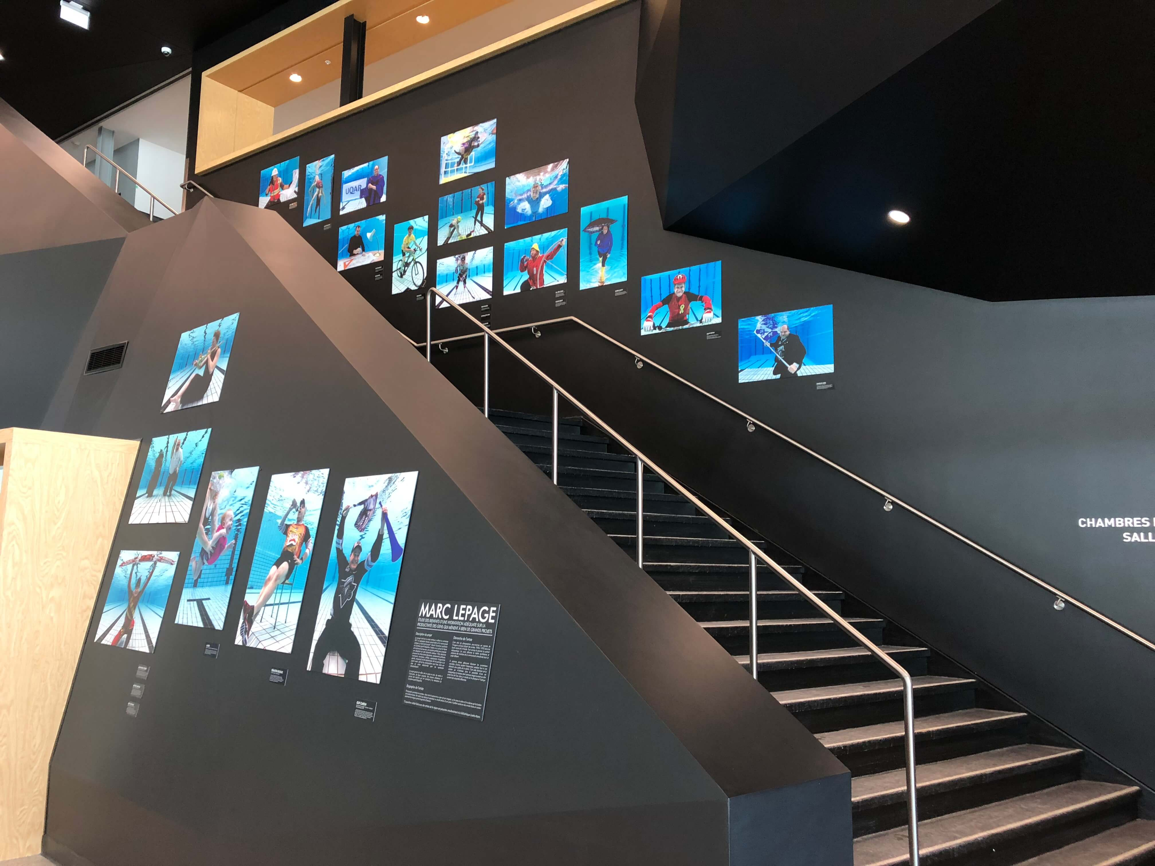 Cette exposition met en scène 20 personnalités des milieux politique, sportif, municipal, organismes partenaires, etc.