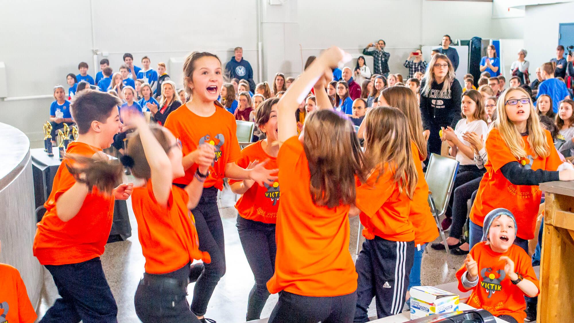 Compétition robotique LEGO FIRST école Victor-Côté Matane