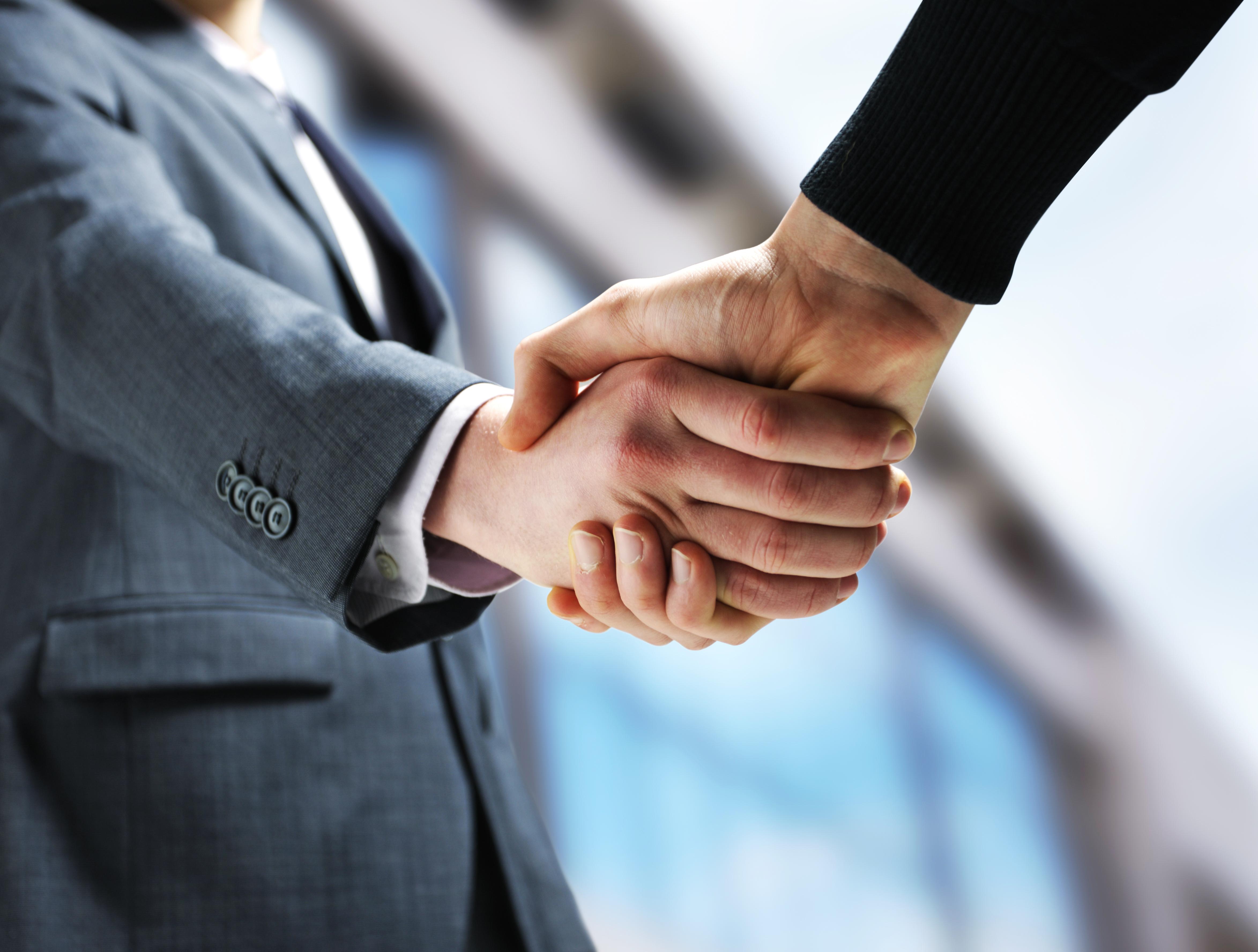 comptable, homme d'affaires, poignée de mains