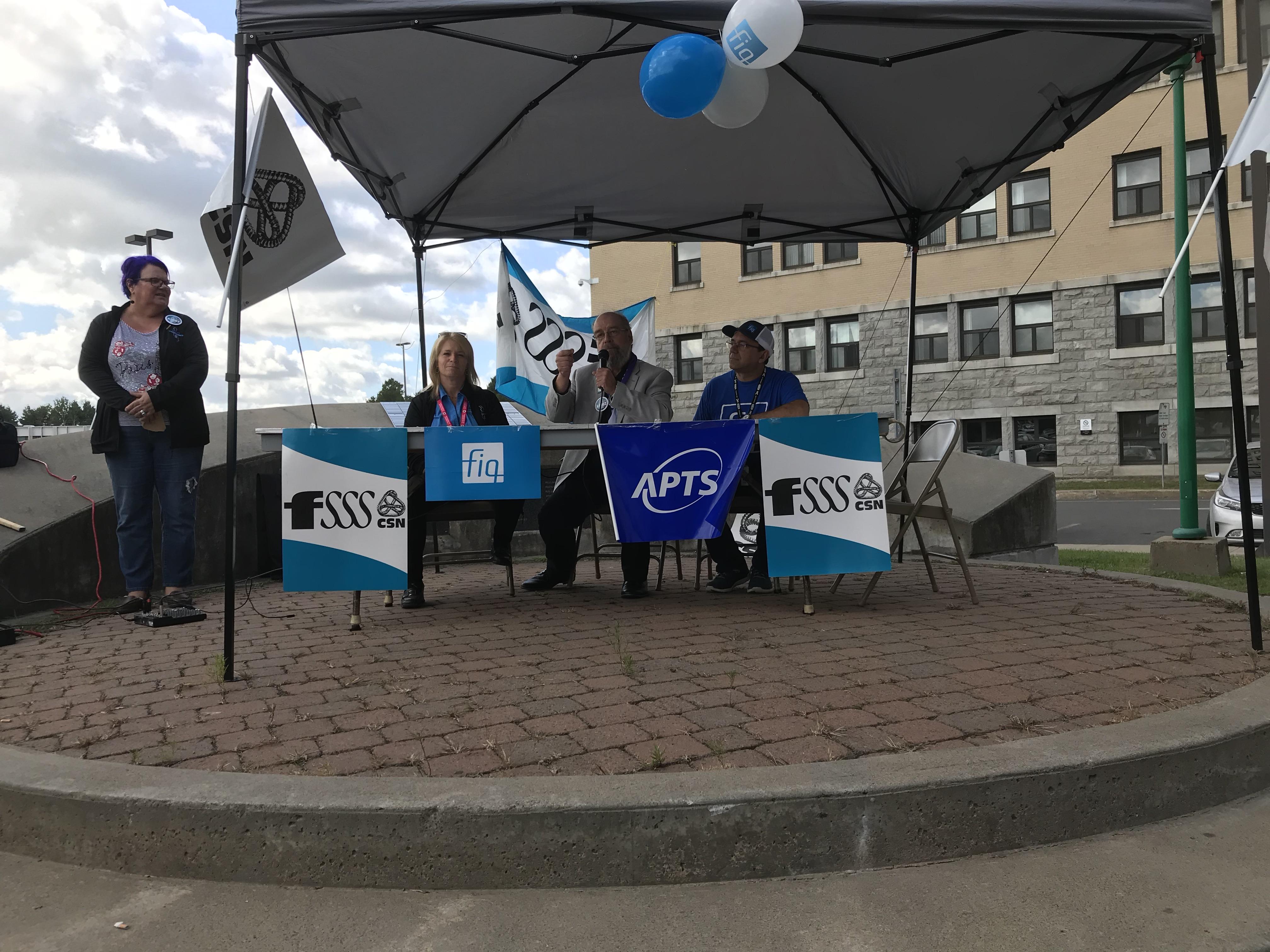 Front commun syndicats CISSS Lanaudière
