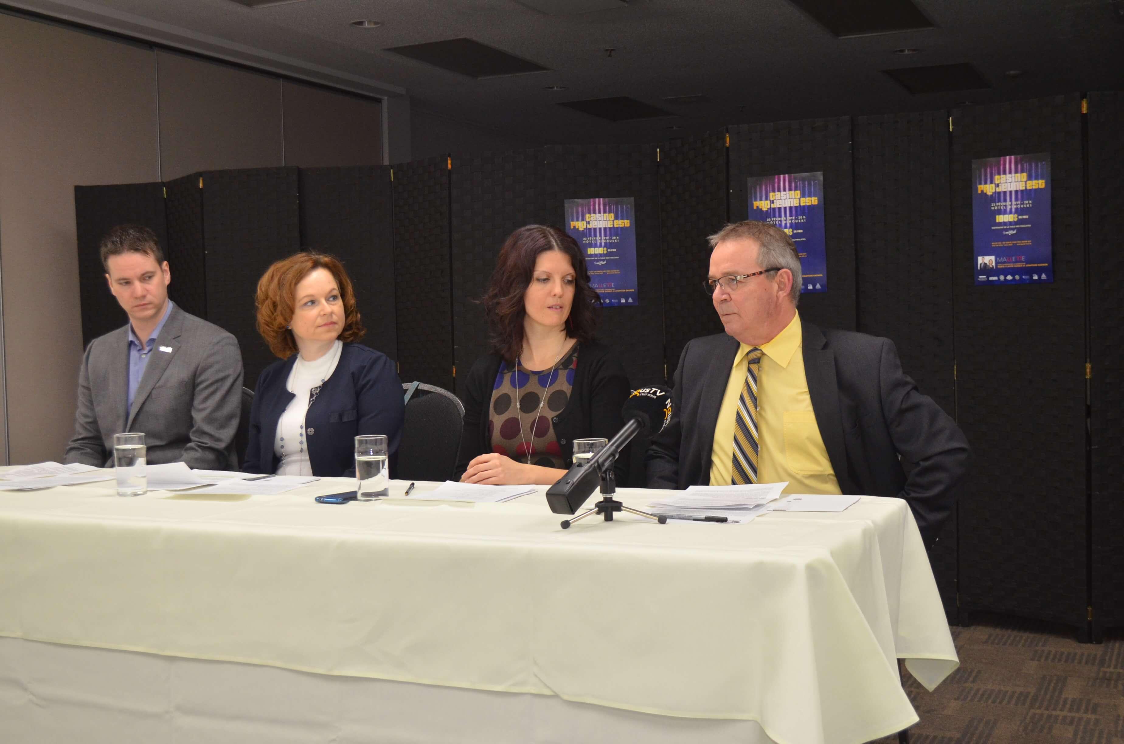 Conférence de presse de Pro-Jeune-Est.