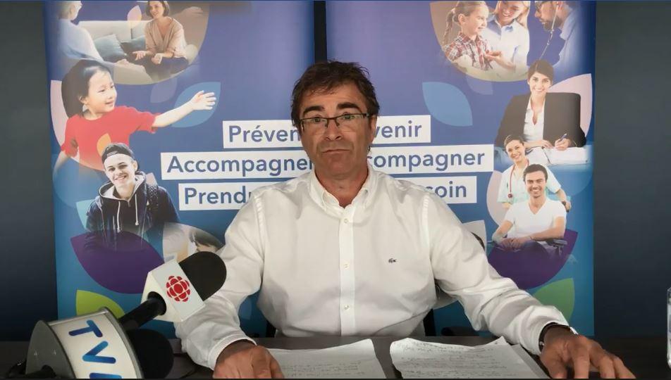 Le directeur de la Santé publique au Bas-Saint-Laurent, le Dr Sylvain Leduc.