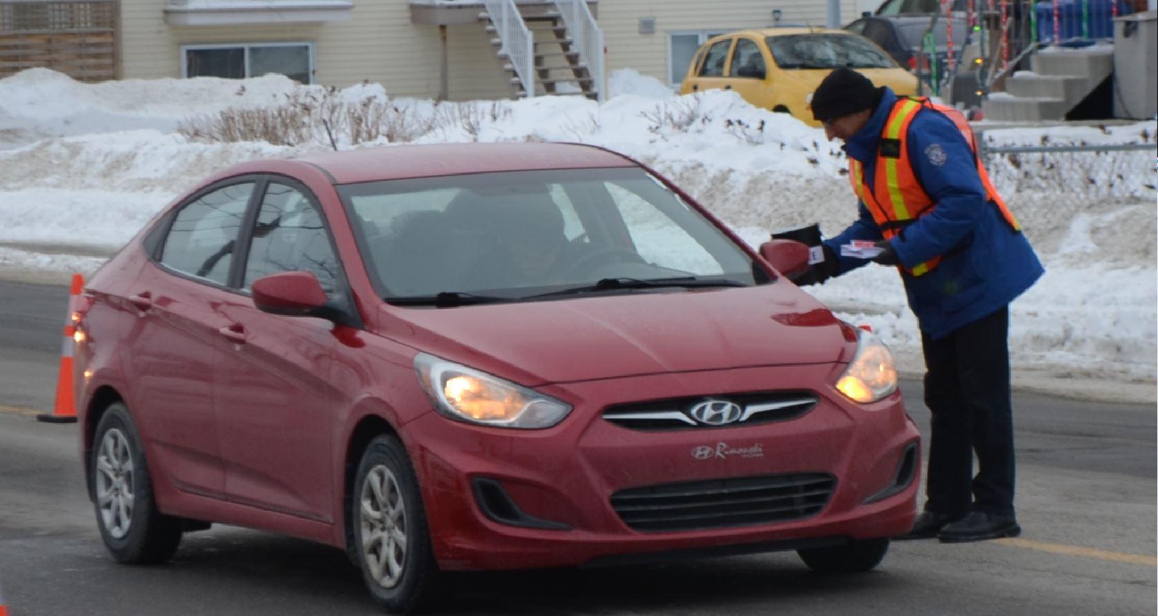 Dans la neige avait lieu la Guignolée des médias, le 6 décembre 2018, à Rimouski.