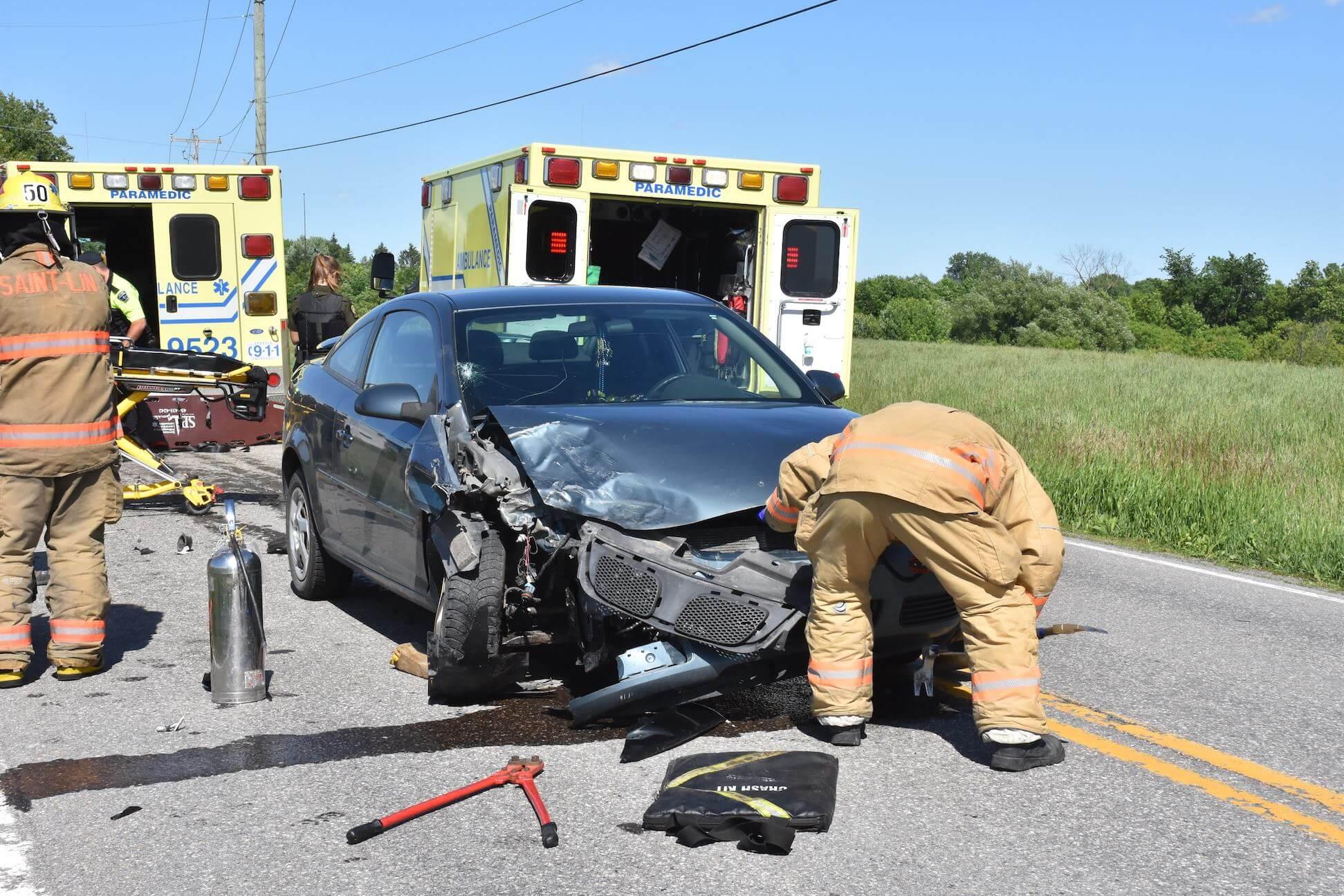 Accident à Saint-Roch-Ouest