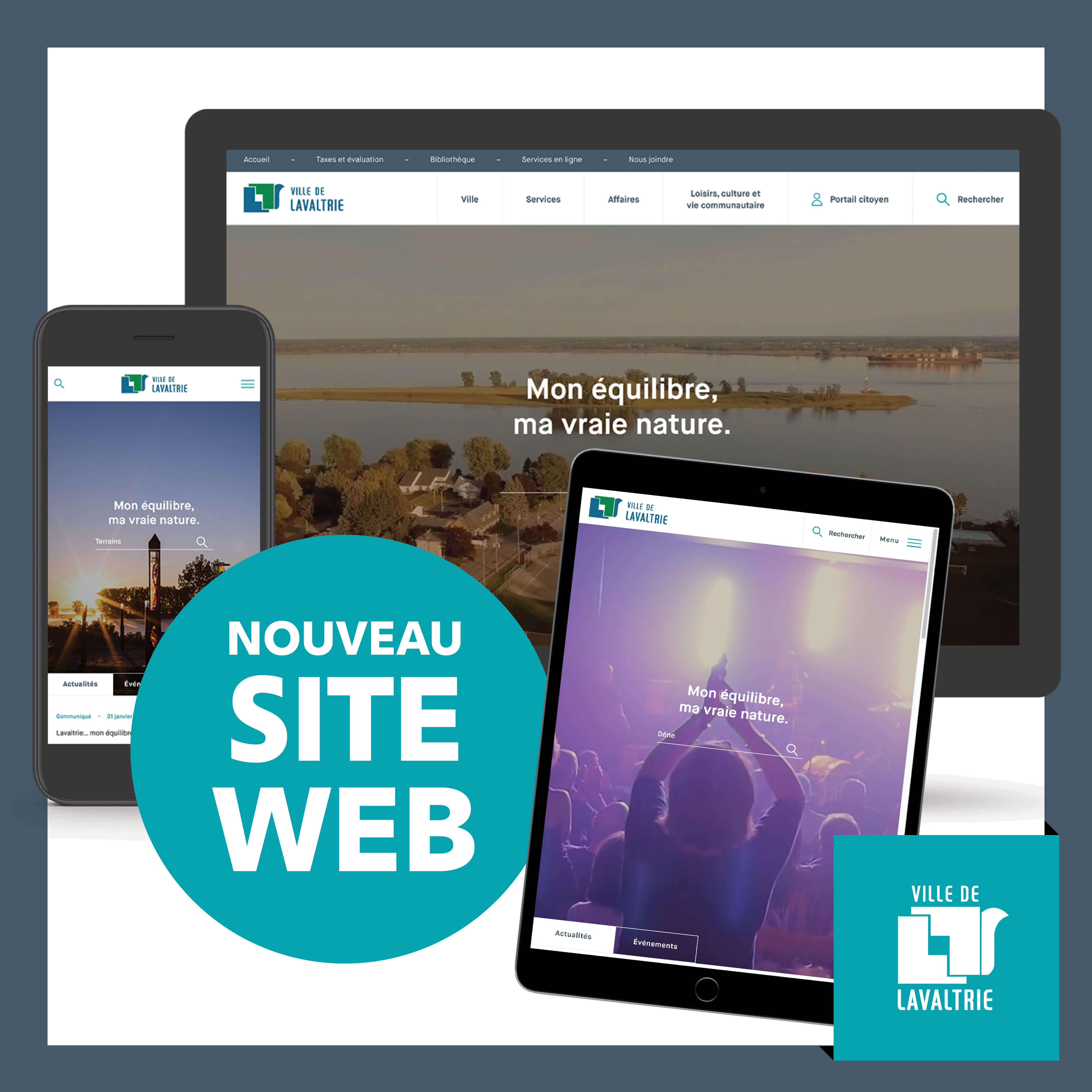 nouveau portail web