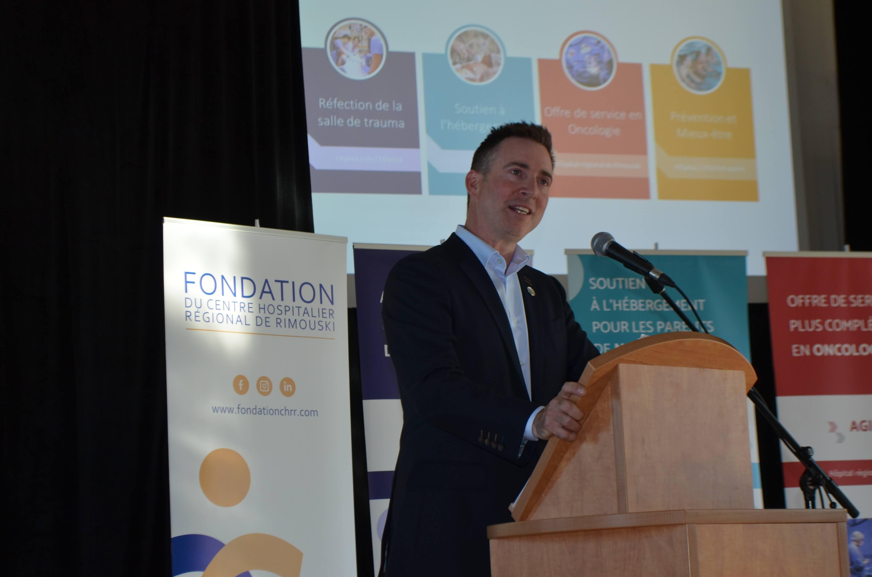 François Séguin, président de la Fondation du CHRR.