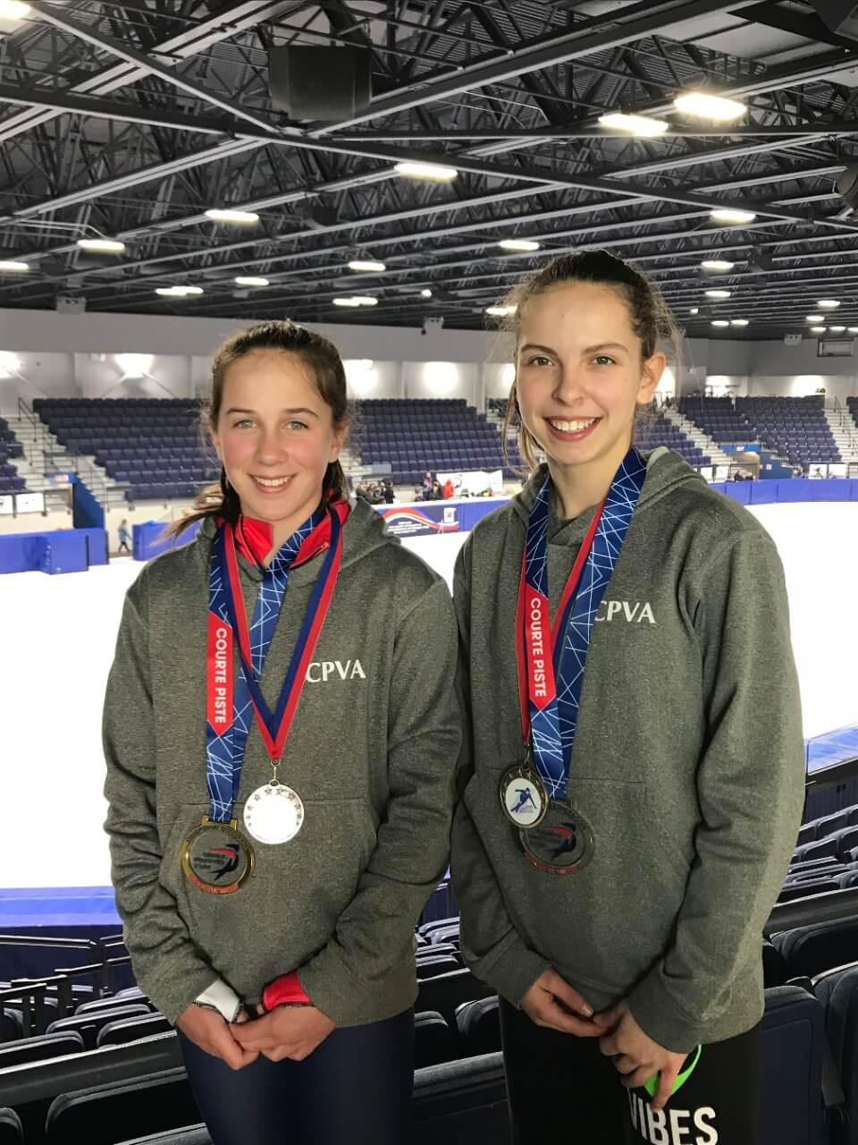 Patinage de vitesse: deux Matapédiennes au Championnat canadien de l'Est