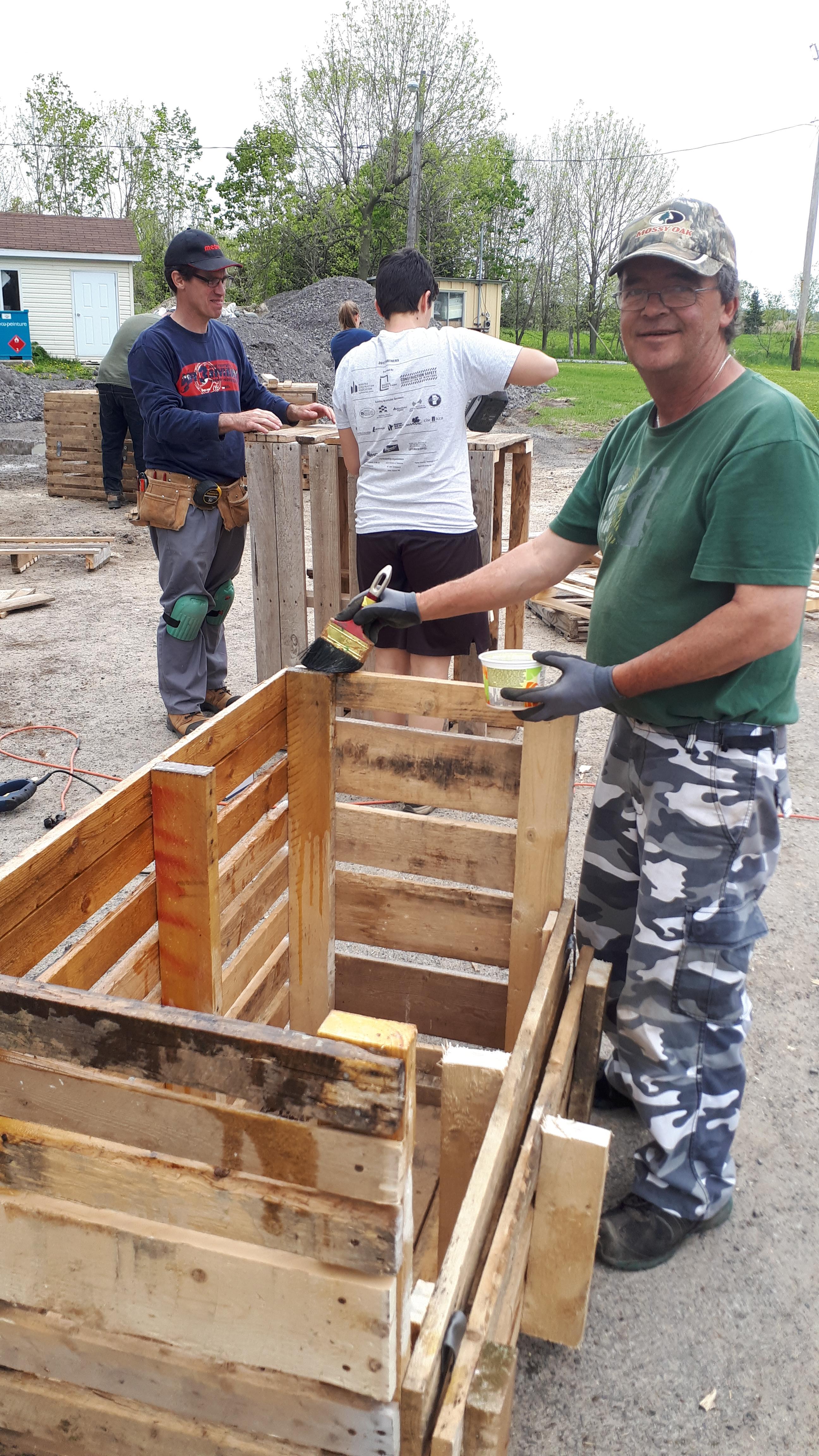 construction de bacs à compostage