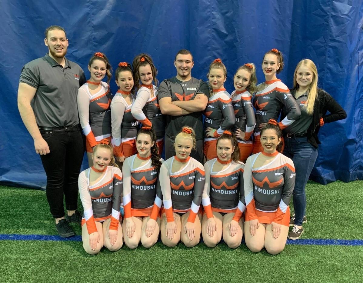 Cheerleaders du Cégep de Rimouski.